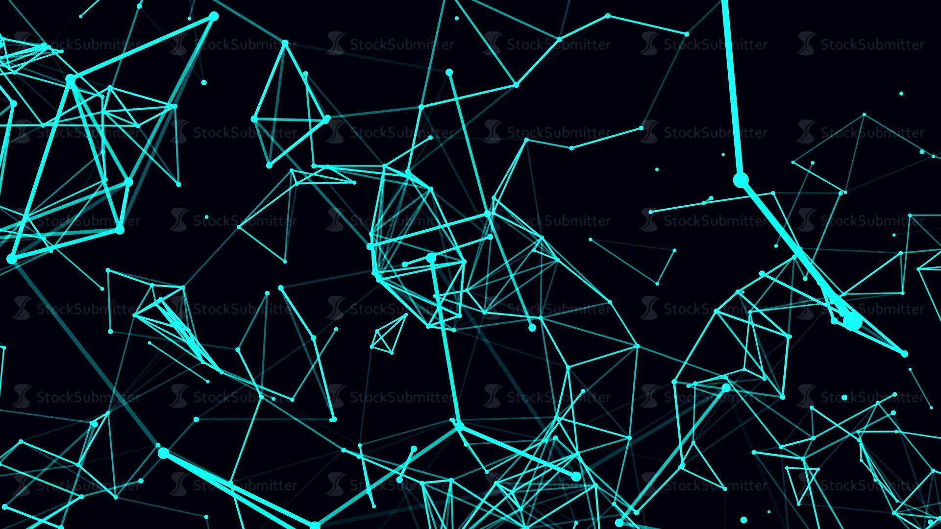 Futuristic technology background. loop abstract line and polygon animation.  4k