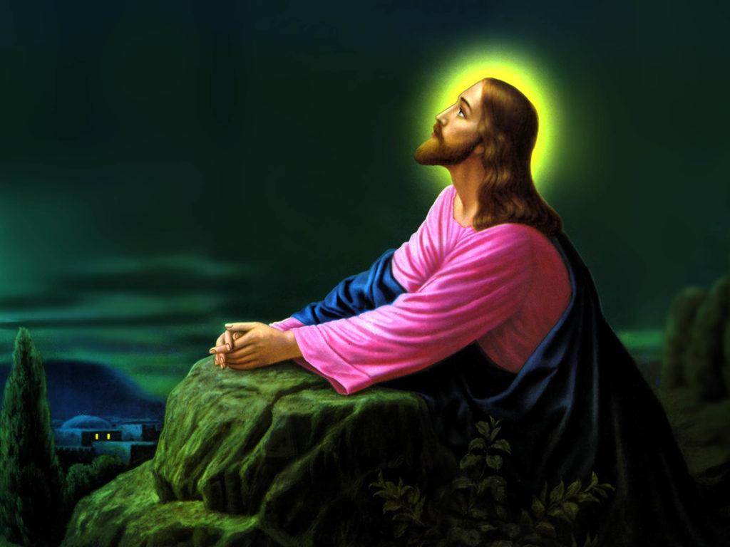 Jesus Christ Praying Wallpapers 03