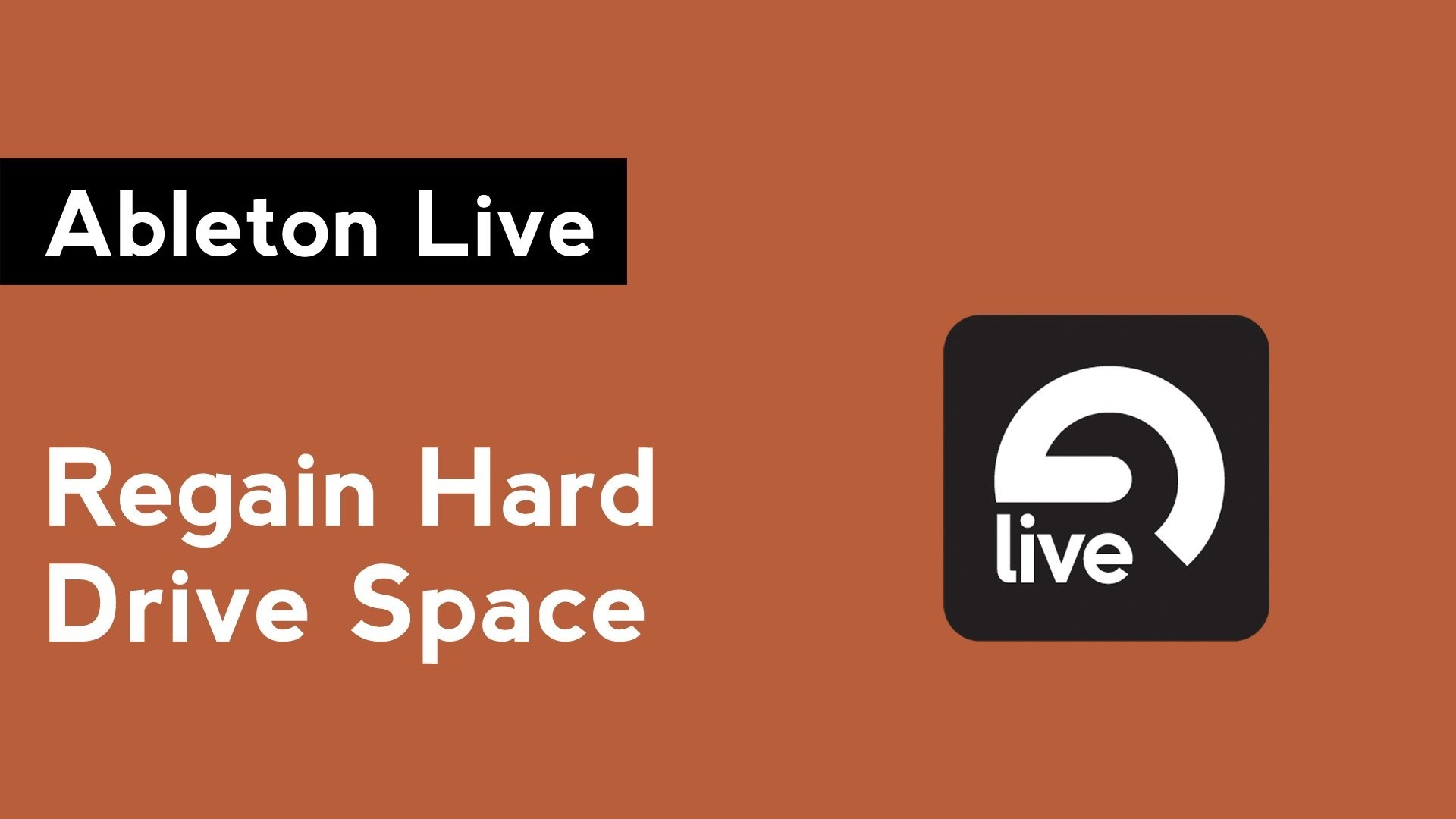 Ableton Live: How to Clear Audio Cache and Recover Hard Drive Space – The  DJ Podcast