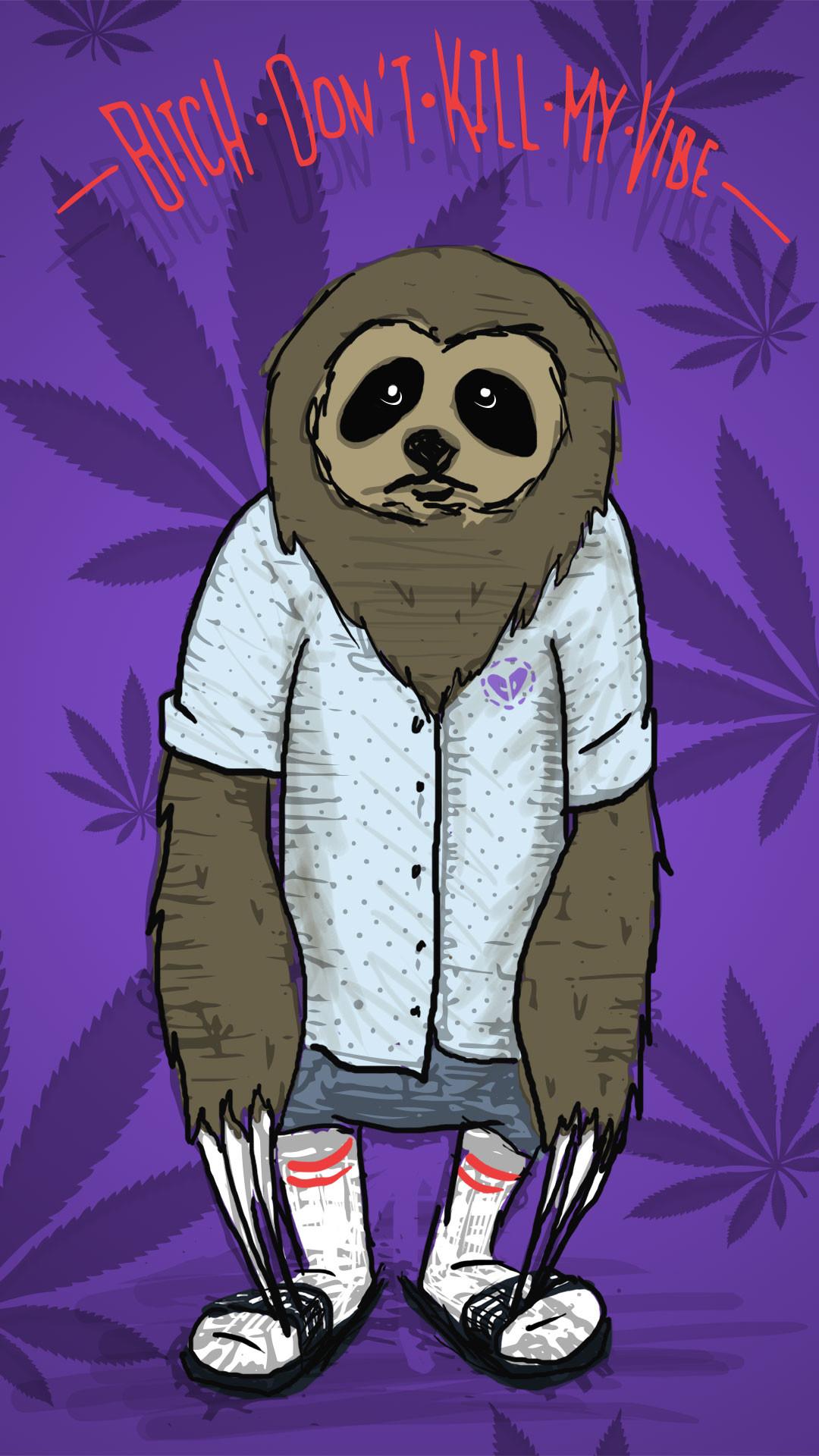 Stoner Sloth Mobile Wallpaper