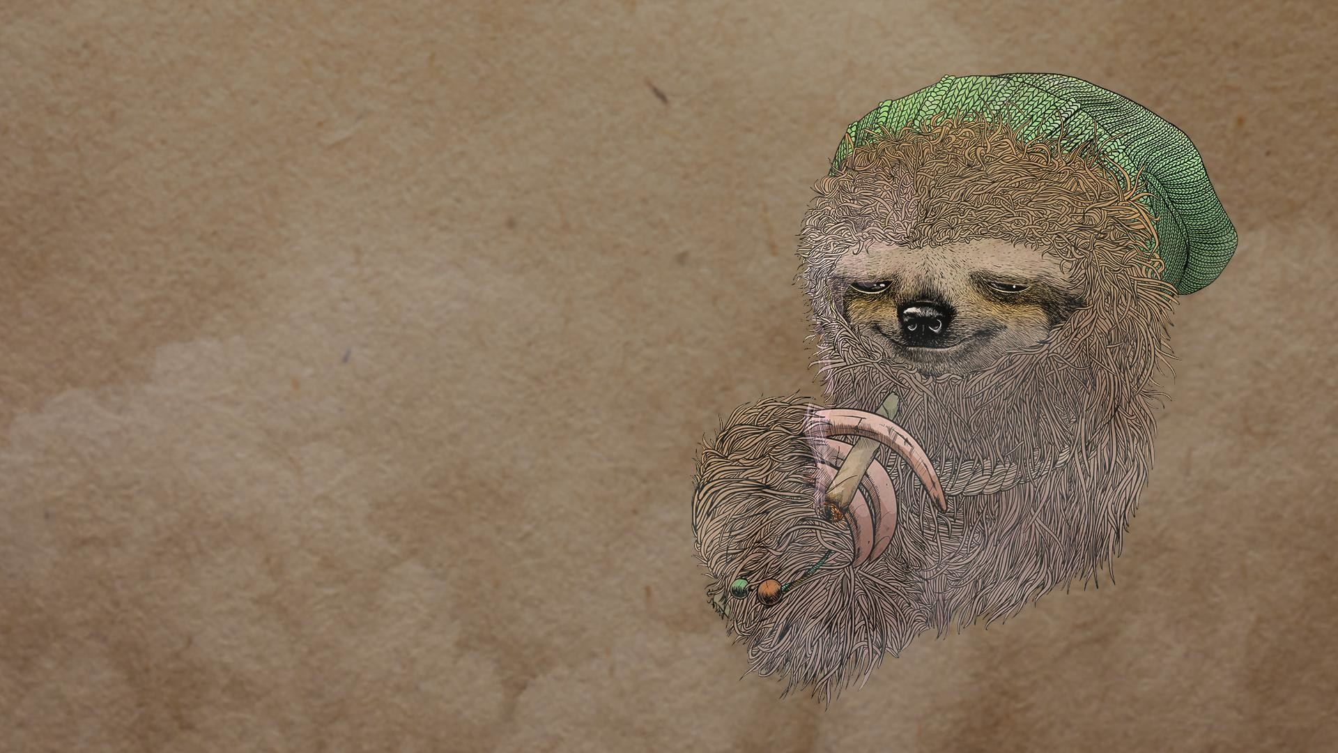 I made a wallpaper from the stoner sloth image.