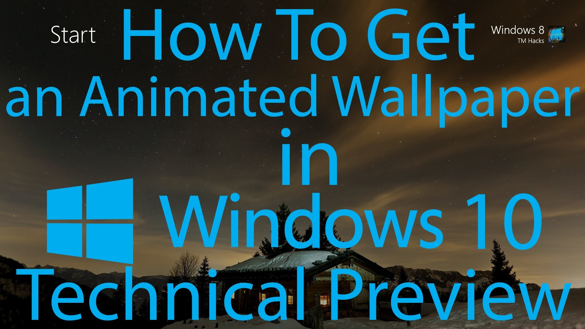 How To Have an Animated Wallpaper in Windows 10 Technical Preview.
