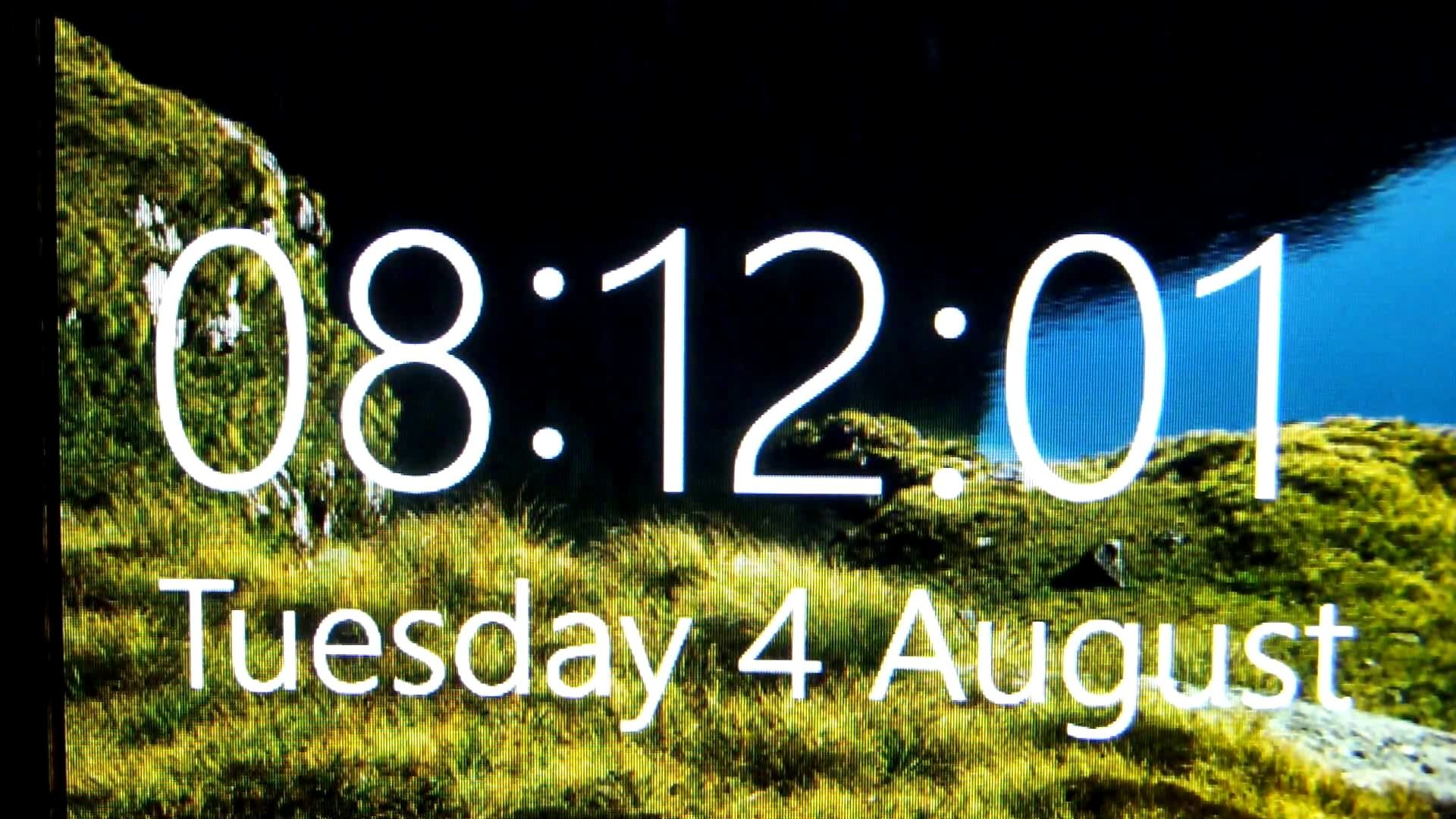 The Amazing Windows 10 Lock Screen Clock
