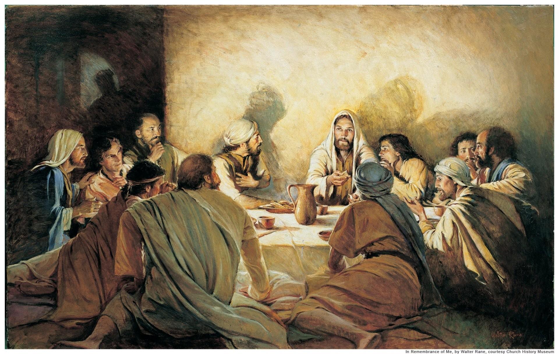 last supper jesus christ the last supper apostles find judas jesus bread  wine wall light shadow