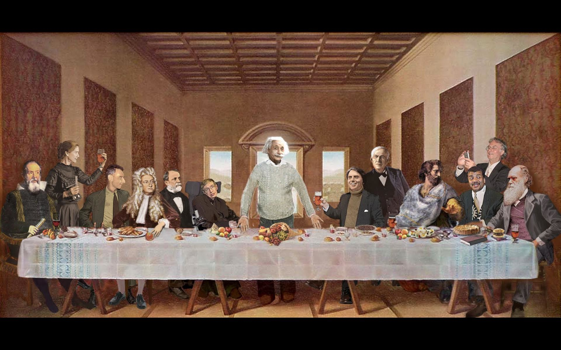 Physics images last-supper-scientists- HD wallpaper and background photos