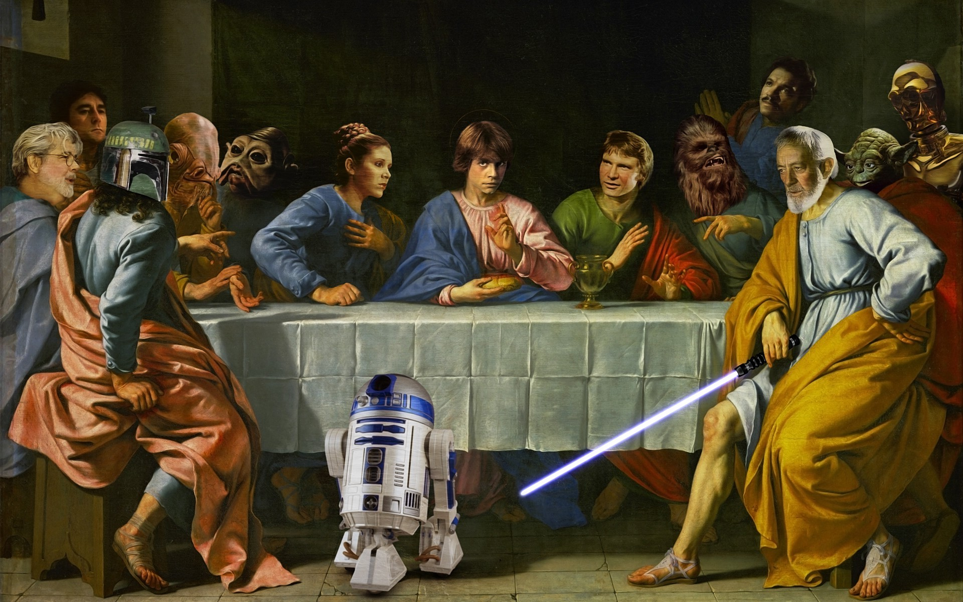 Star Wars, Crossover, The Last Supper Wallpapers HD / Desktop and Mobile  Backgrounds