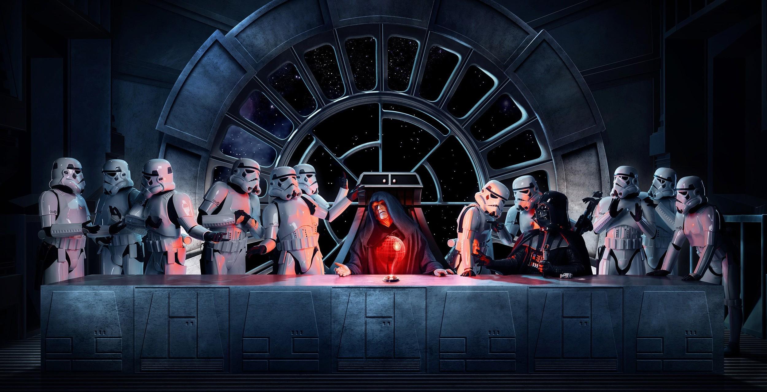 Darth Vader, Emperor Palpatine, Stormtrooper, Star Wars, The Last Supper