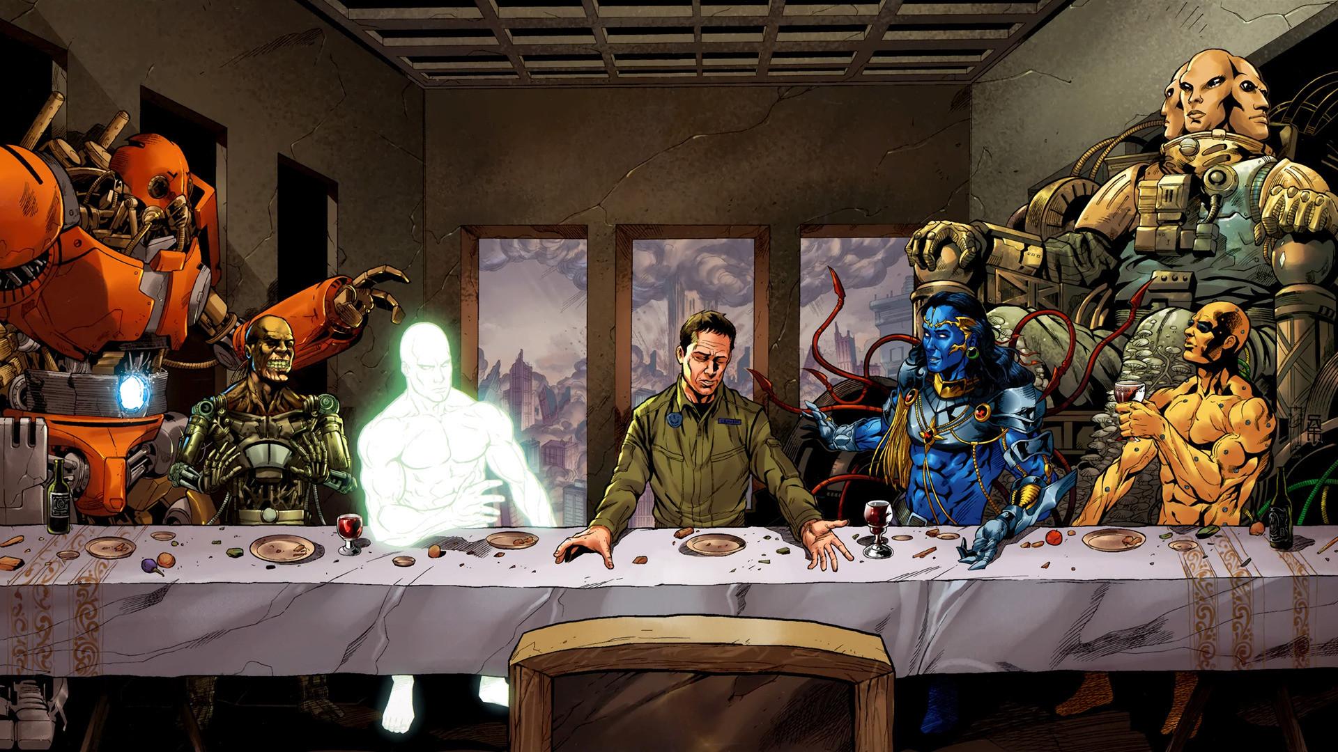 Last supper (Supergod) [1900×1080]