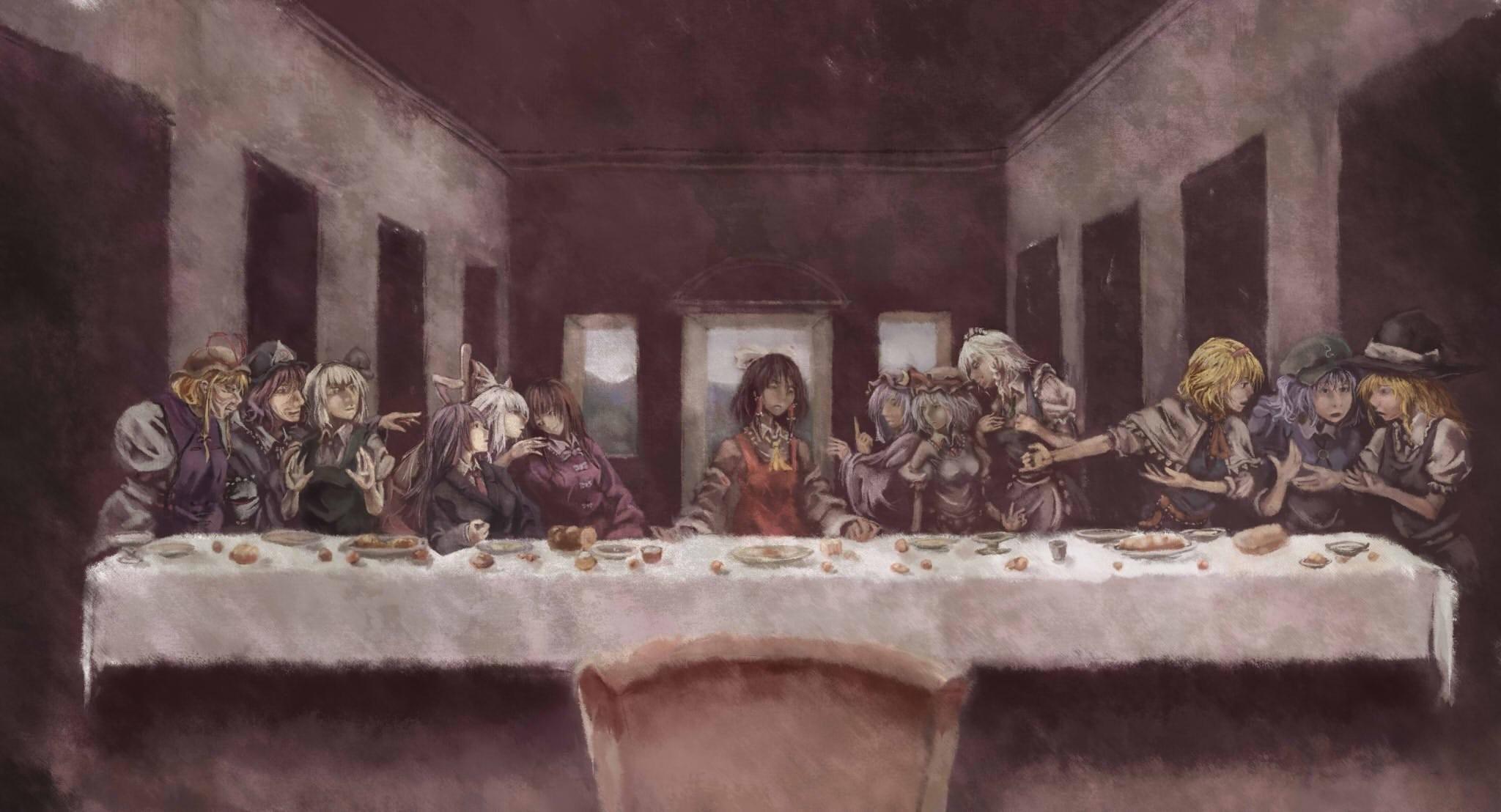Touhou Last Supper; jesus christ