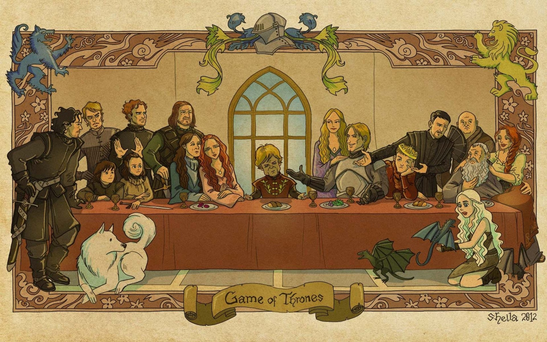 last supper The Last Supper Game of Thrones A Song of Ice and Fire Tyrion  Lannister
