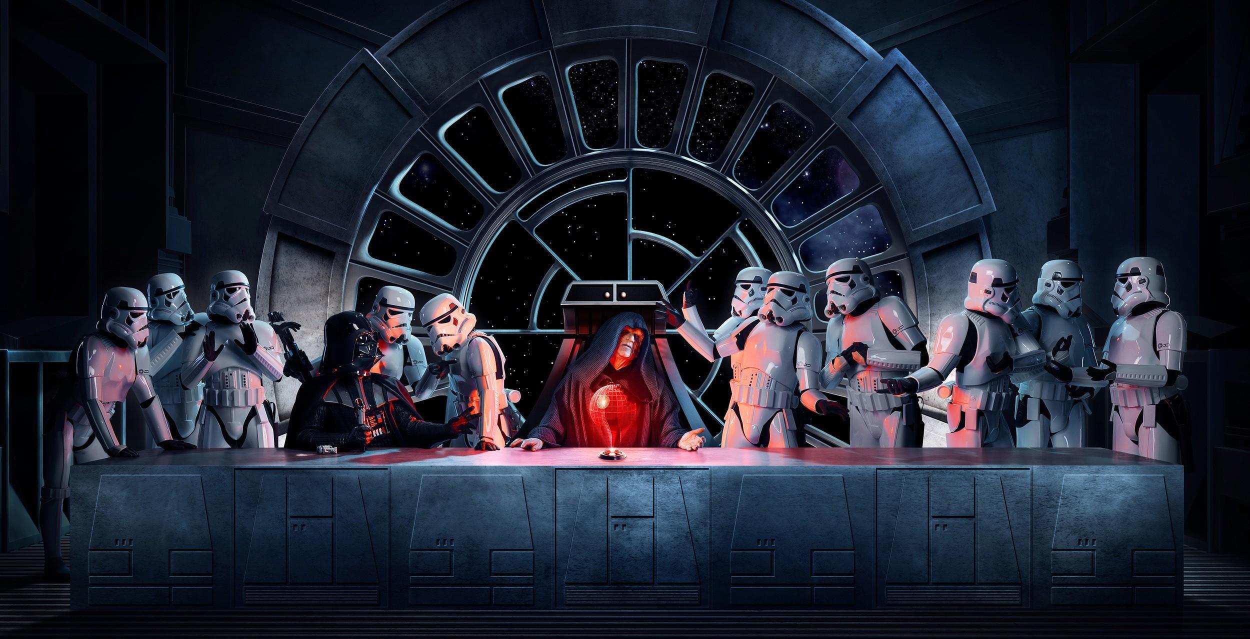General Star Wars Darth Vader Emperor Palpatine stormtrooper The  Last Supper