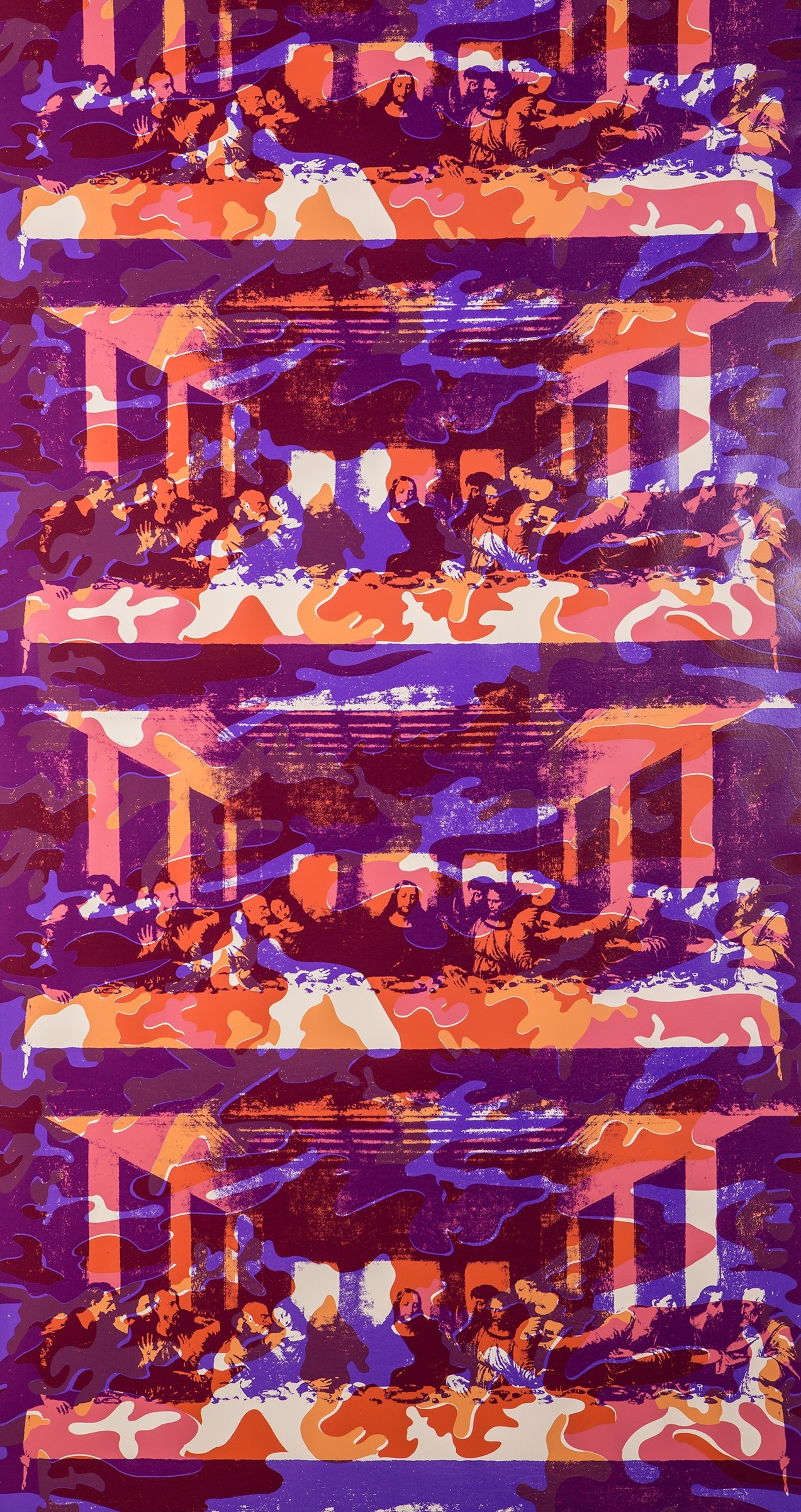 The Last Supper. Lenten Apricot on Blush Clay Coated Paper