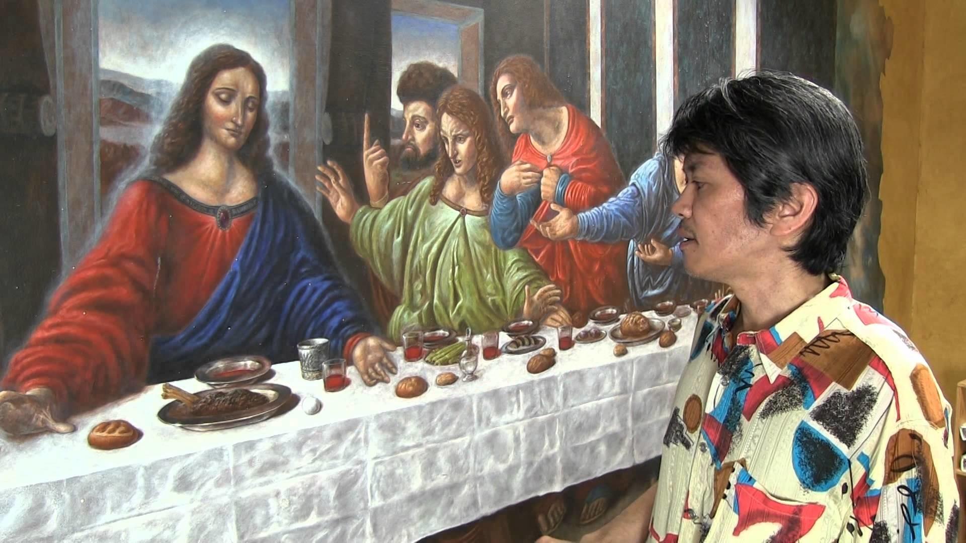 Hikaru has re-created The Last Supper by Leonardo da Vinci.