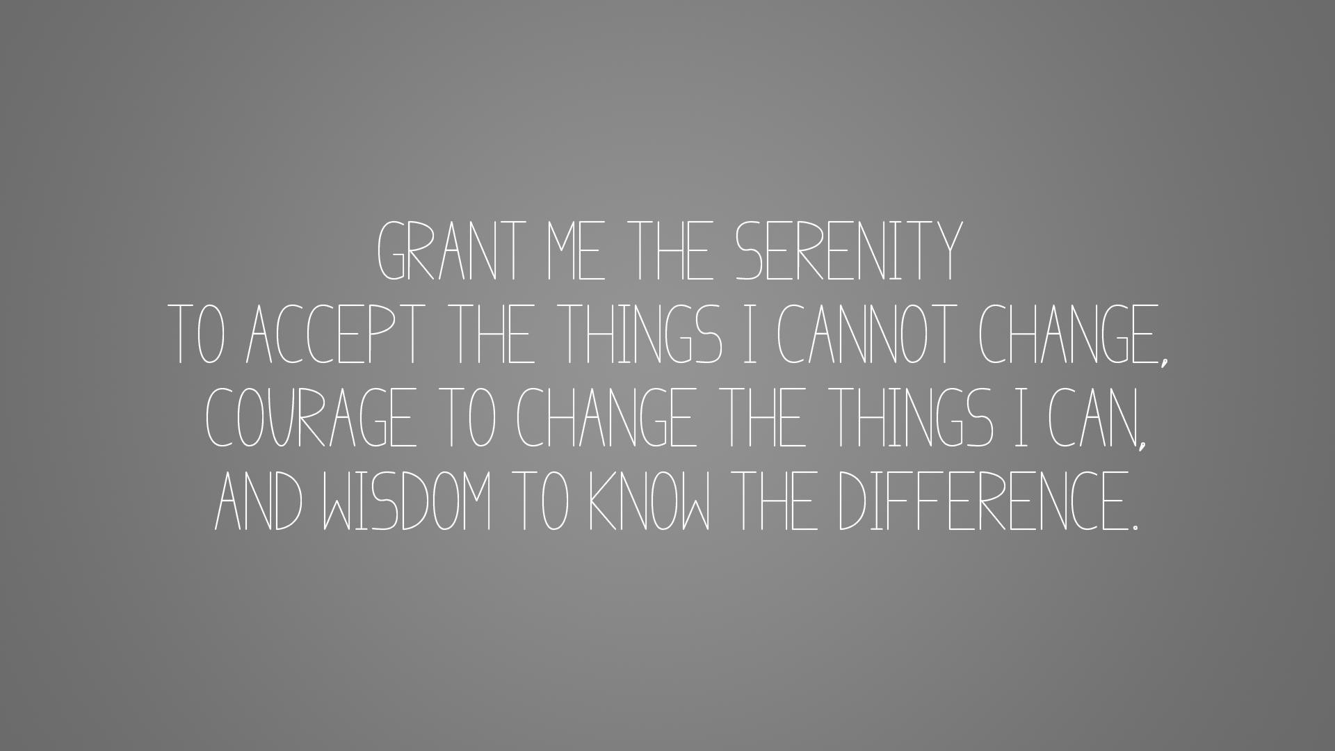 Serenity Prayer (Simple version) [1920×1080] OC