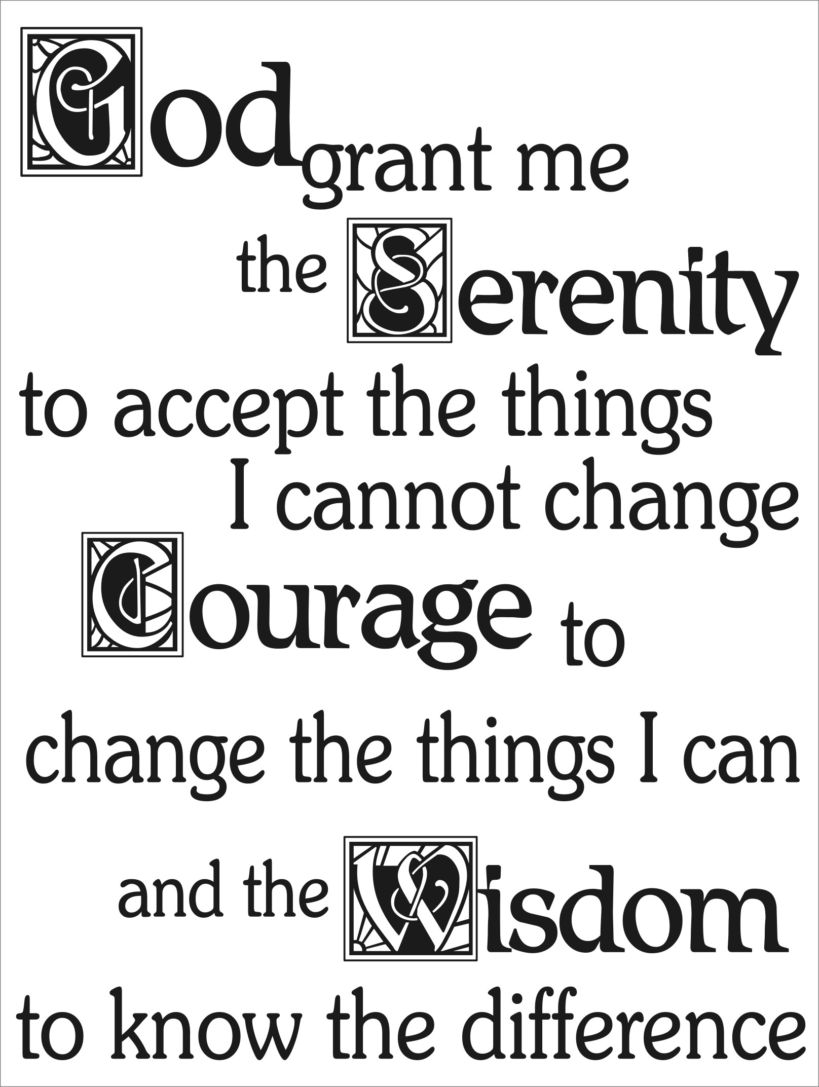 Use on your Powerpoints Serenity prayer.gif. 200KB 1616×2145