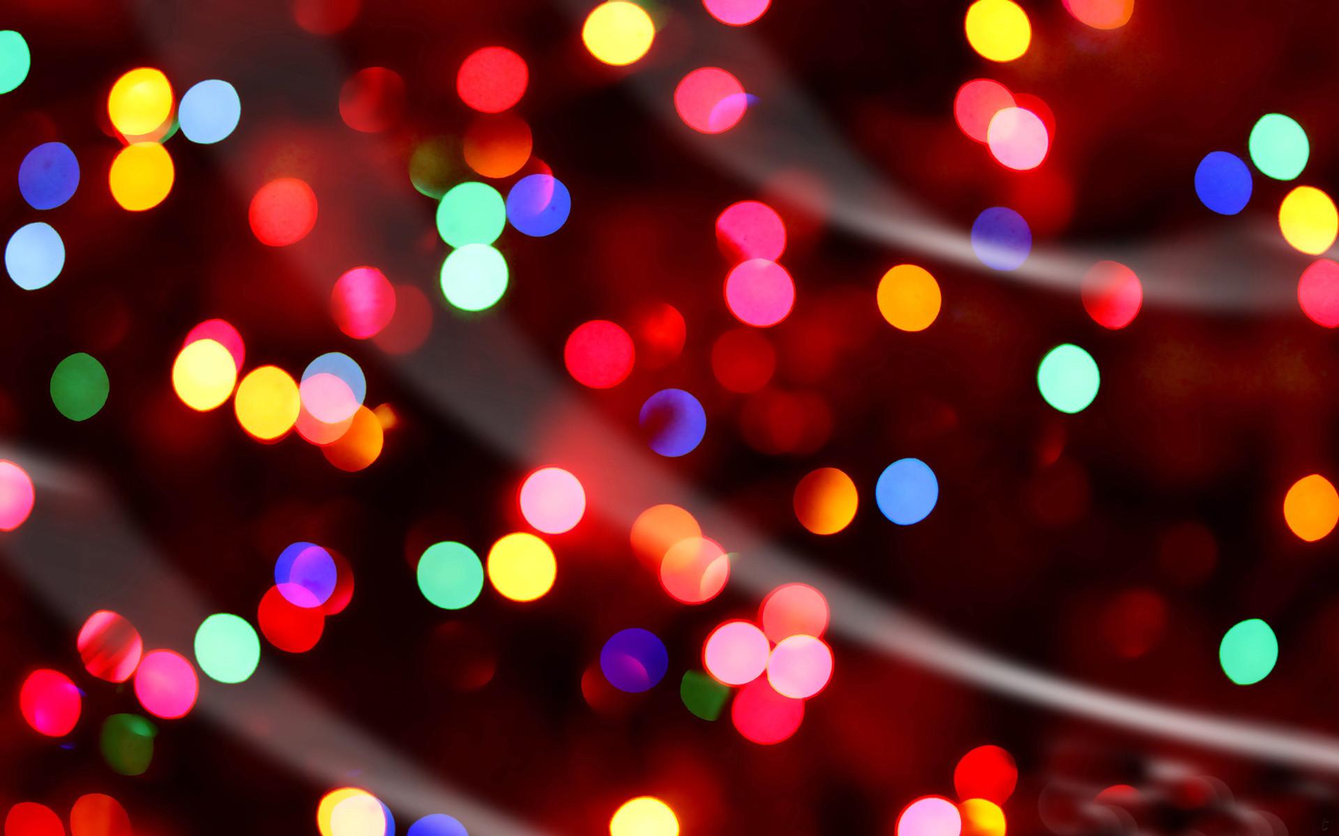 Christmas lights wallpaper.