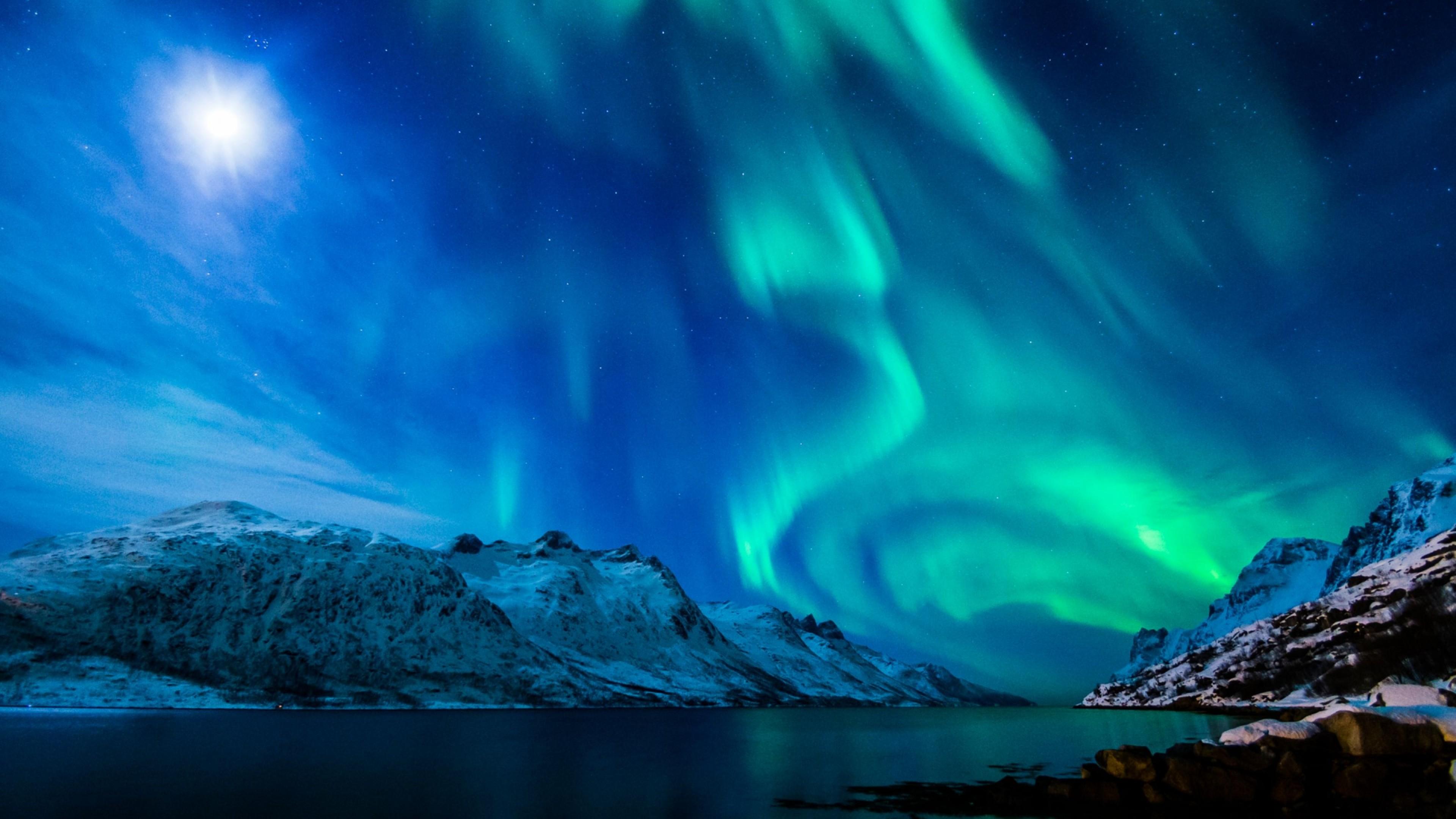 Preview wallpaper northern lights, aurora borealis, uk, 2015 3840×2160