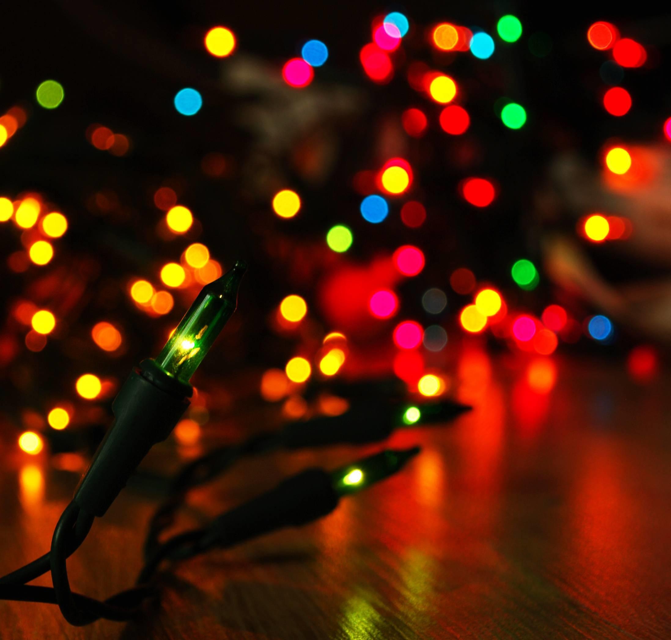 Wallpapers For > Christmas Tree Lights Desktop Background