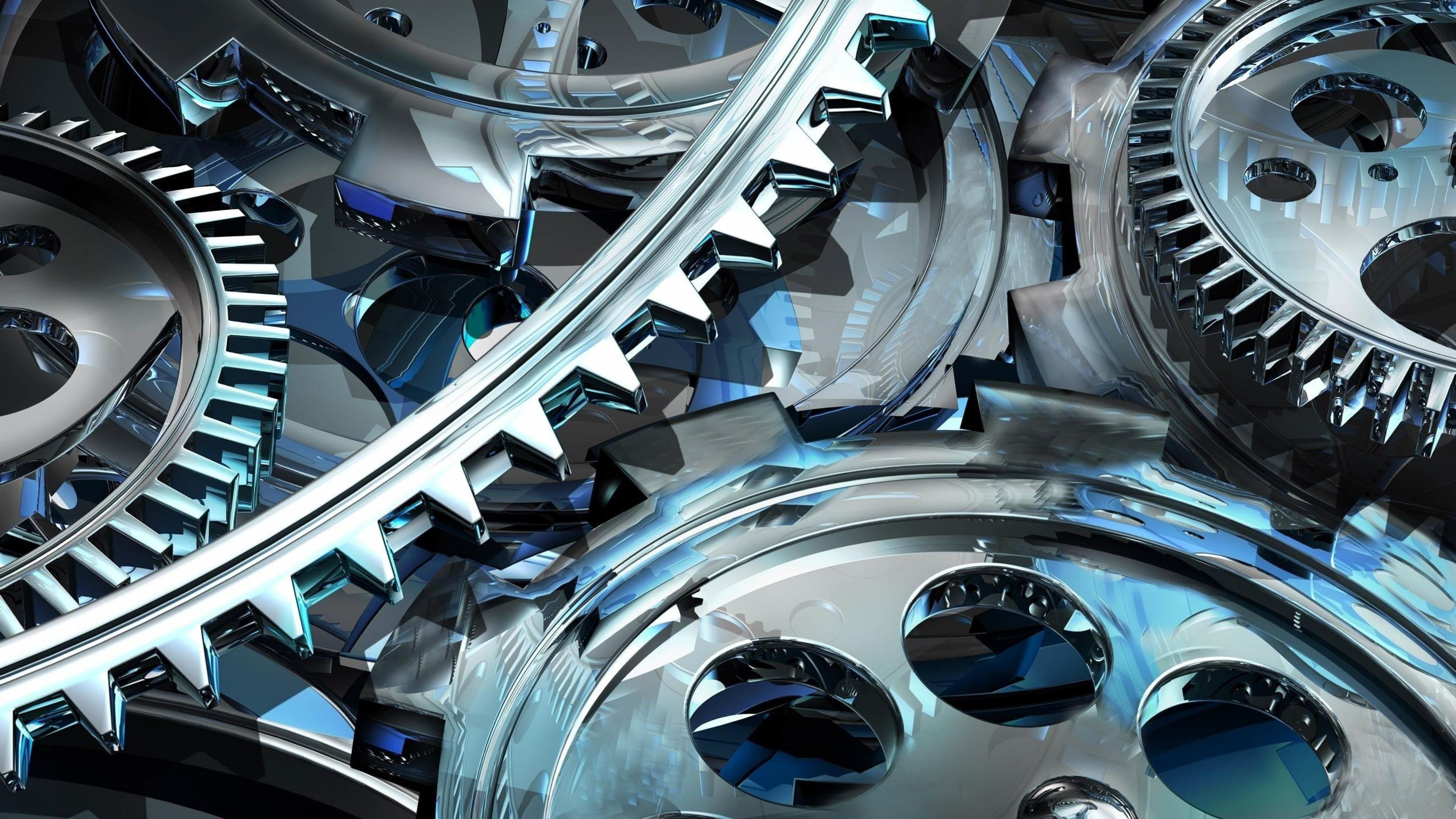 3D Gear Wheels wallpaper