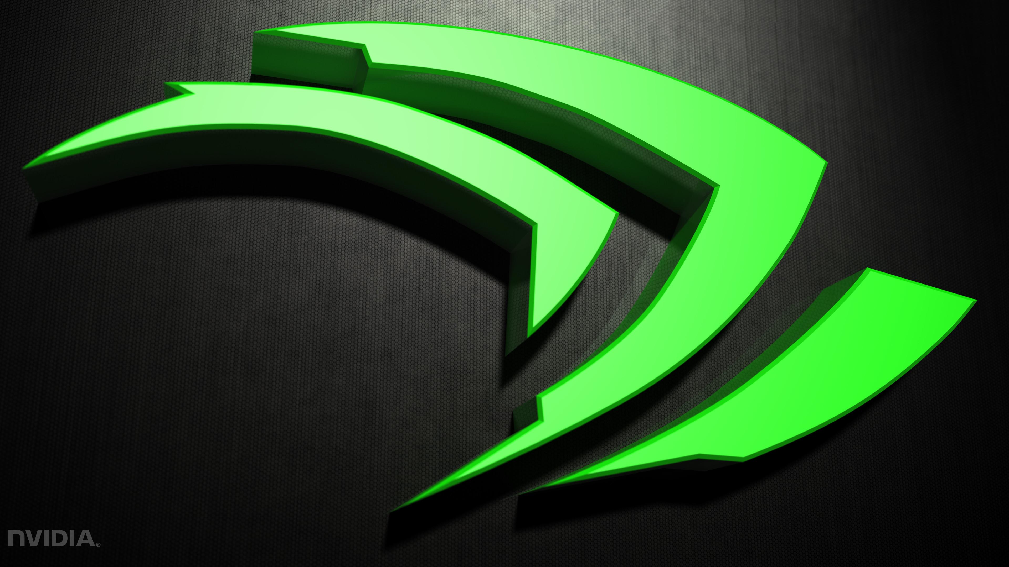 Technology – Nvidia Texture Dark 3D Green Logo Wallpaper
