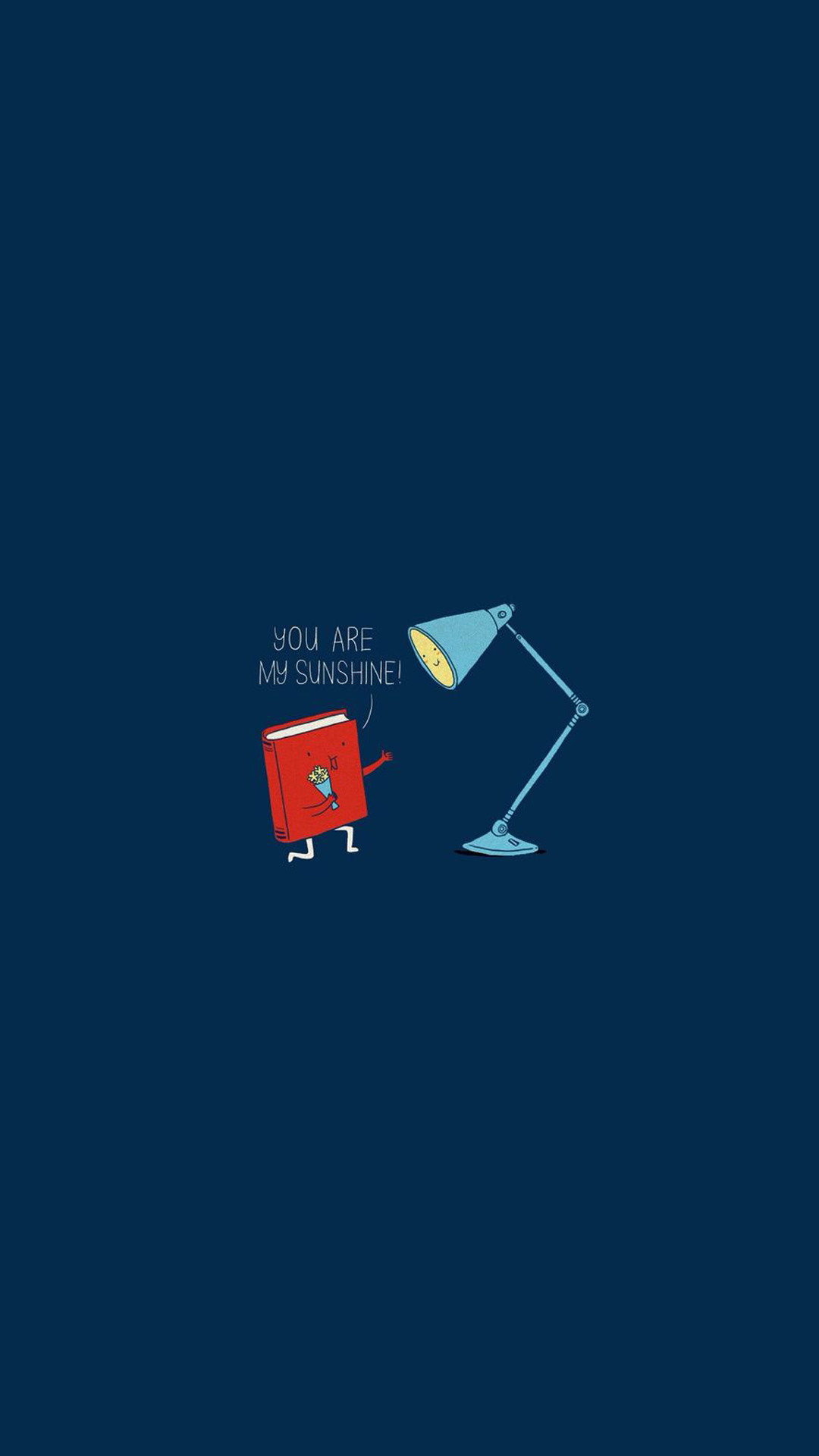Book Lamp You Are My Sunshine Android Wallpaper