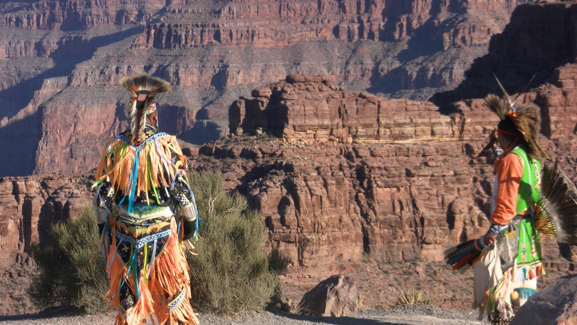 Native American Indians At Grand Canyon Hd Wallpaper | Wallpaper List