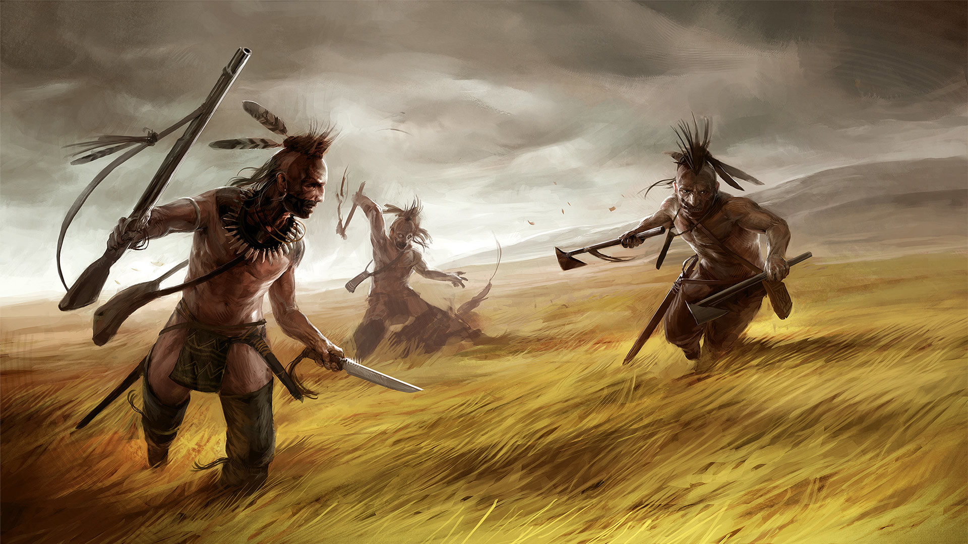 Warpath Campaign Indians On The Prairie – War Games Wallpaper Image .