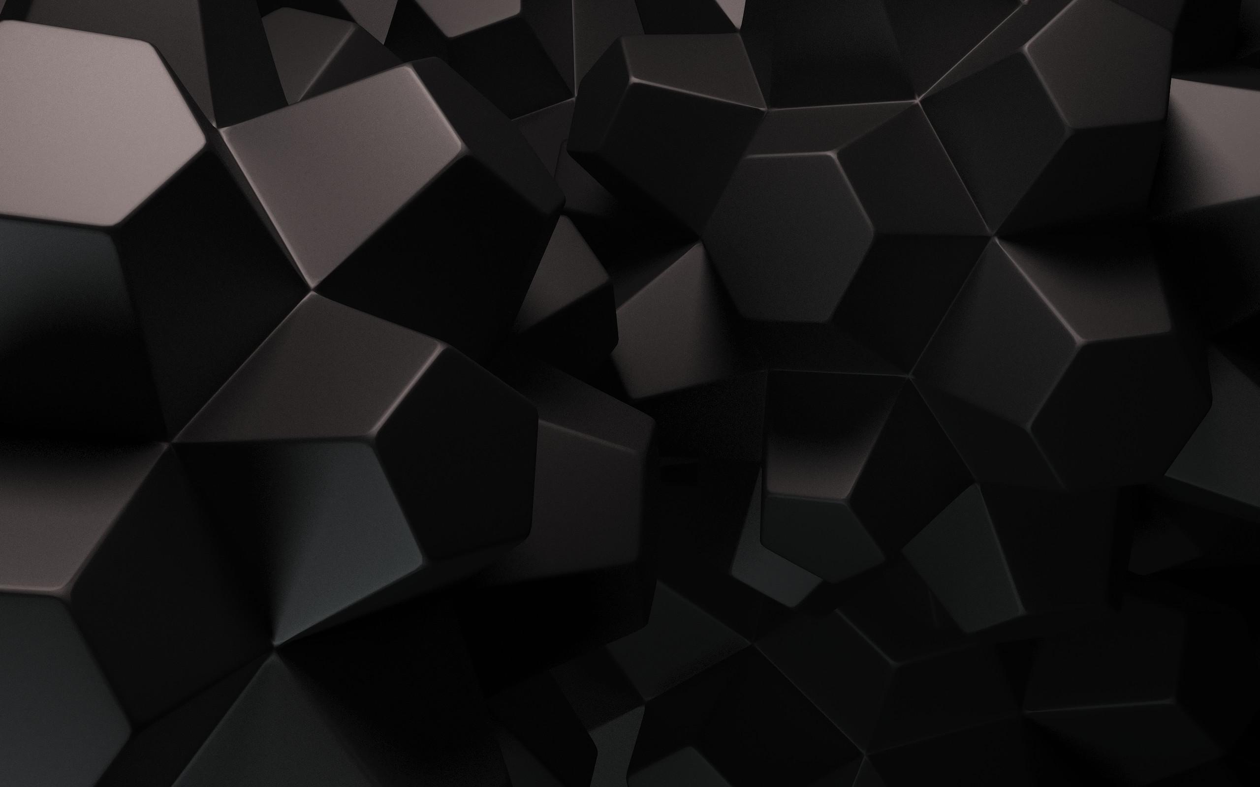 Geometric Wallpaper Black (1)