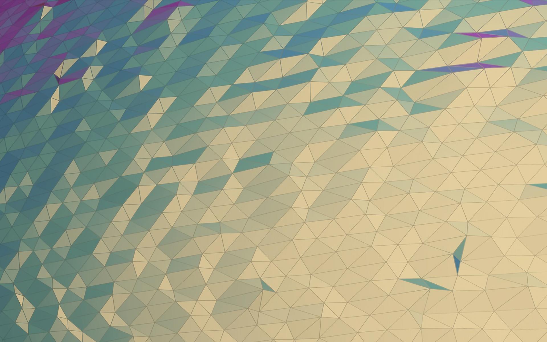Geometric Grid Moon Surface Wallpaper