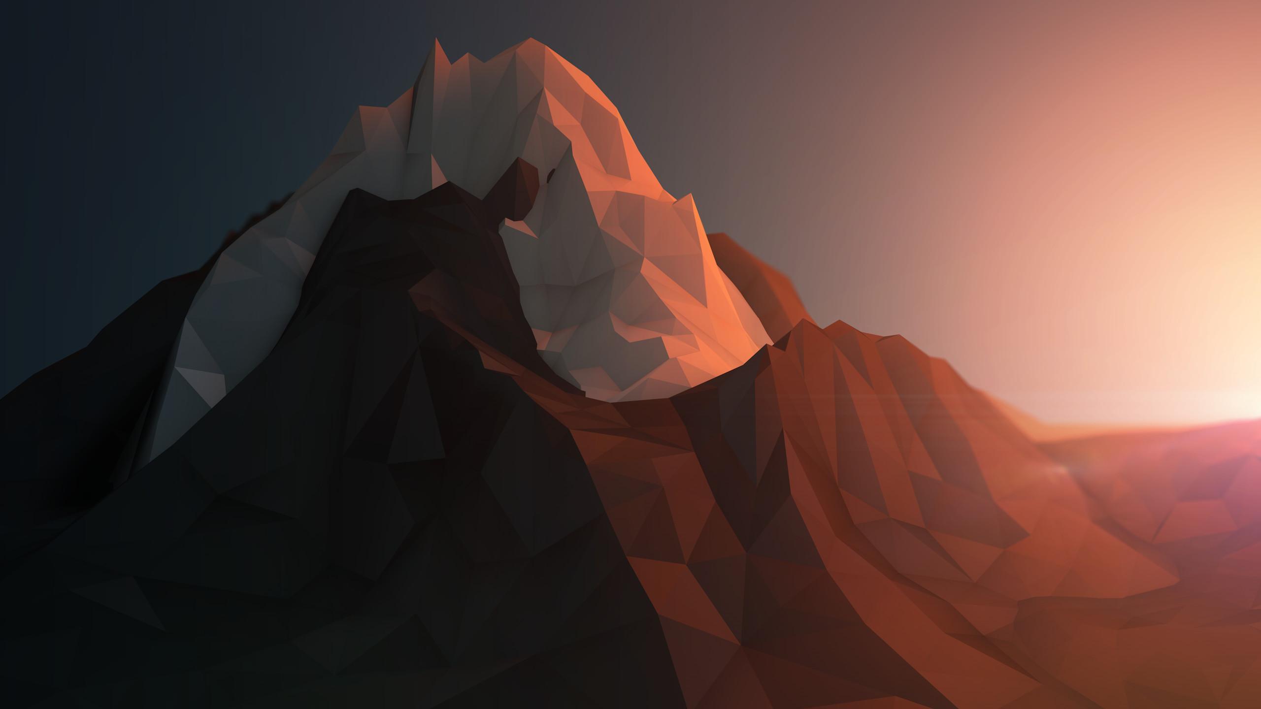 Low-poly mountains wallpaper, low polygons, geometric wallpaper .