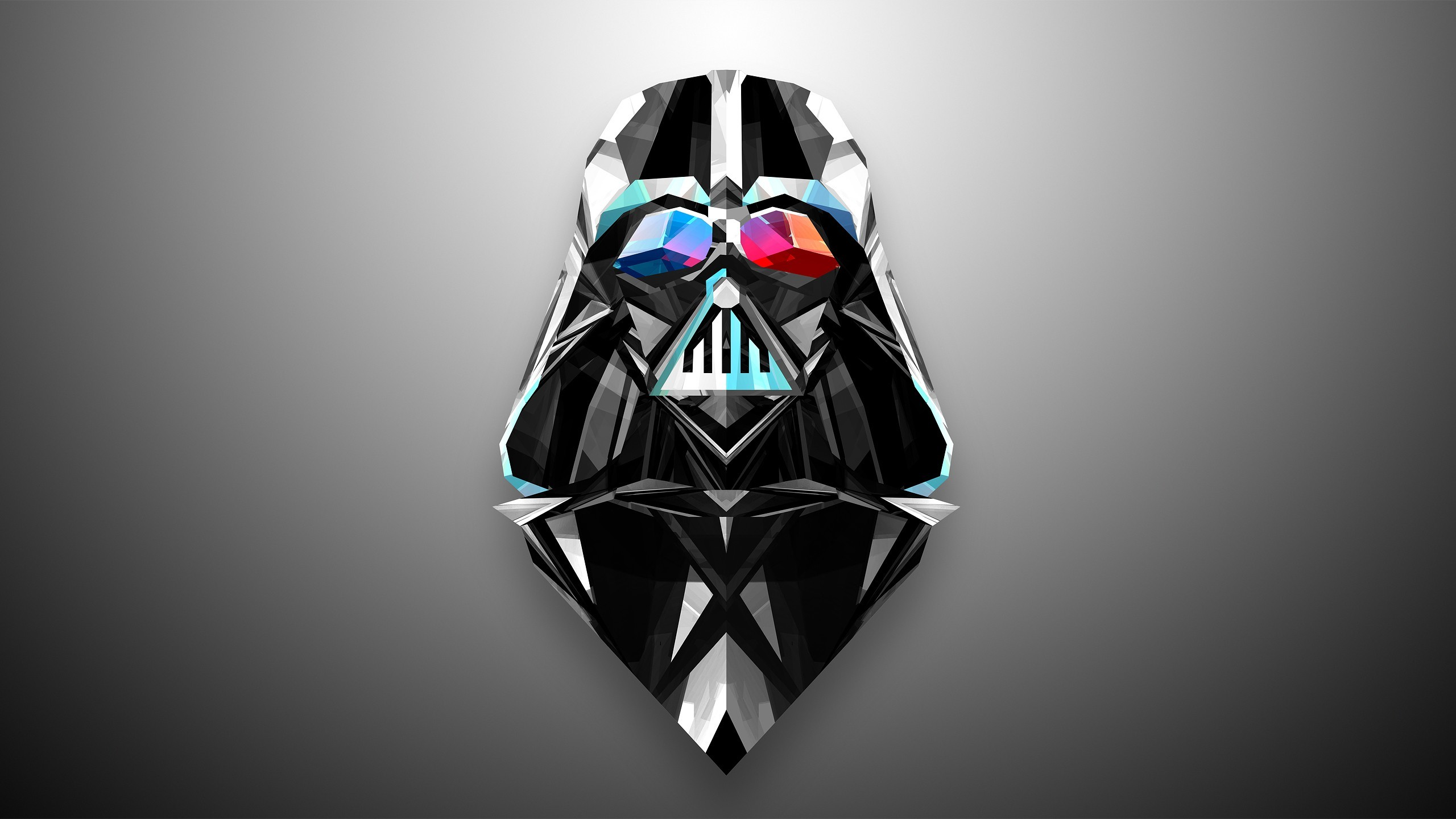 Darth Vader and Daft Punk get the Justin Maller treatment in Helmetica, a  vivid series of geometric wallpapers.