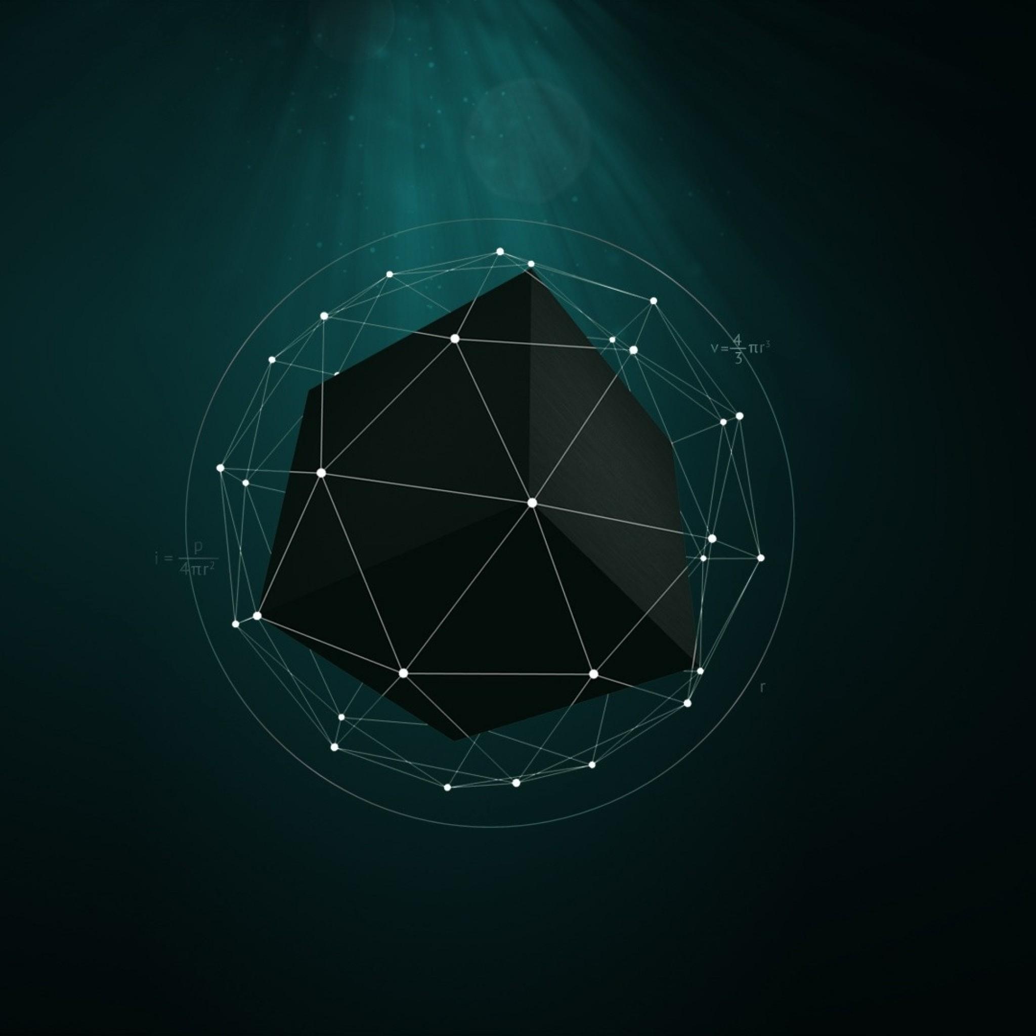 Wallpaper shape, point, cube, geometric