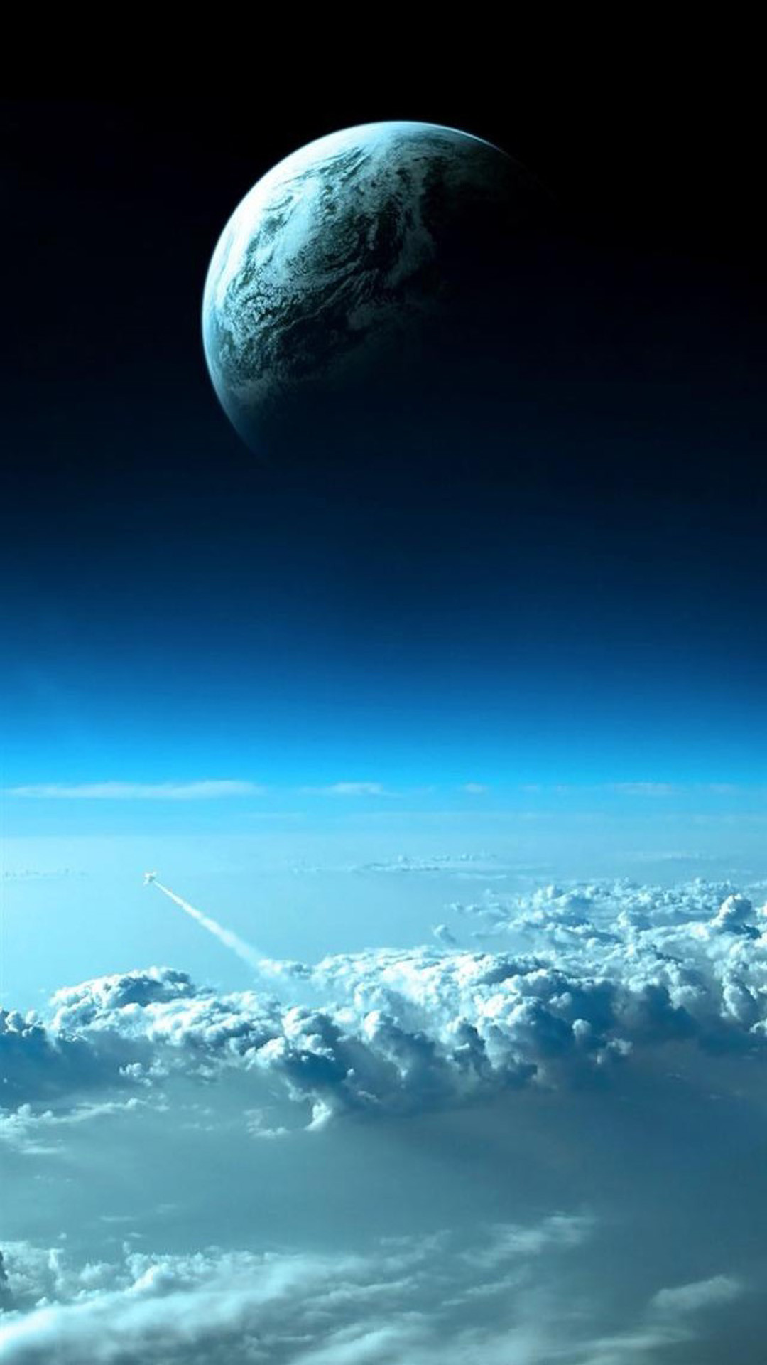 Ultra-HD wallpaper – Space – sky, clouds, The rocket, space, the planet –