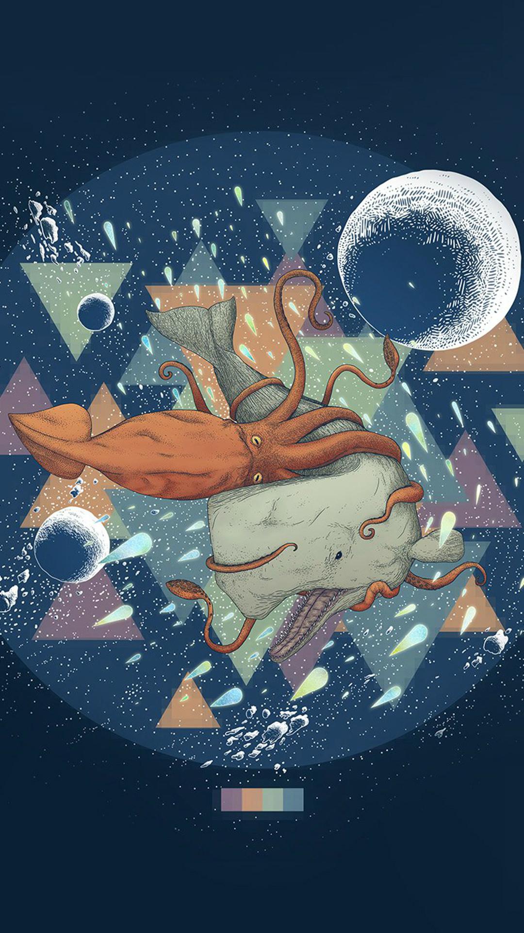 Diamond Sea Illust Art Blue #iPhone #6 #plus #wallpaper