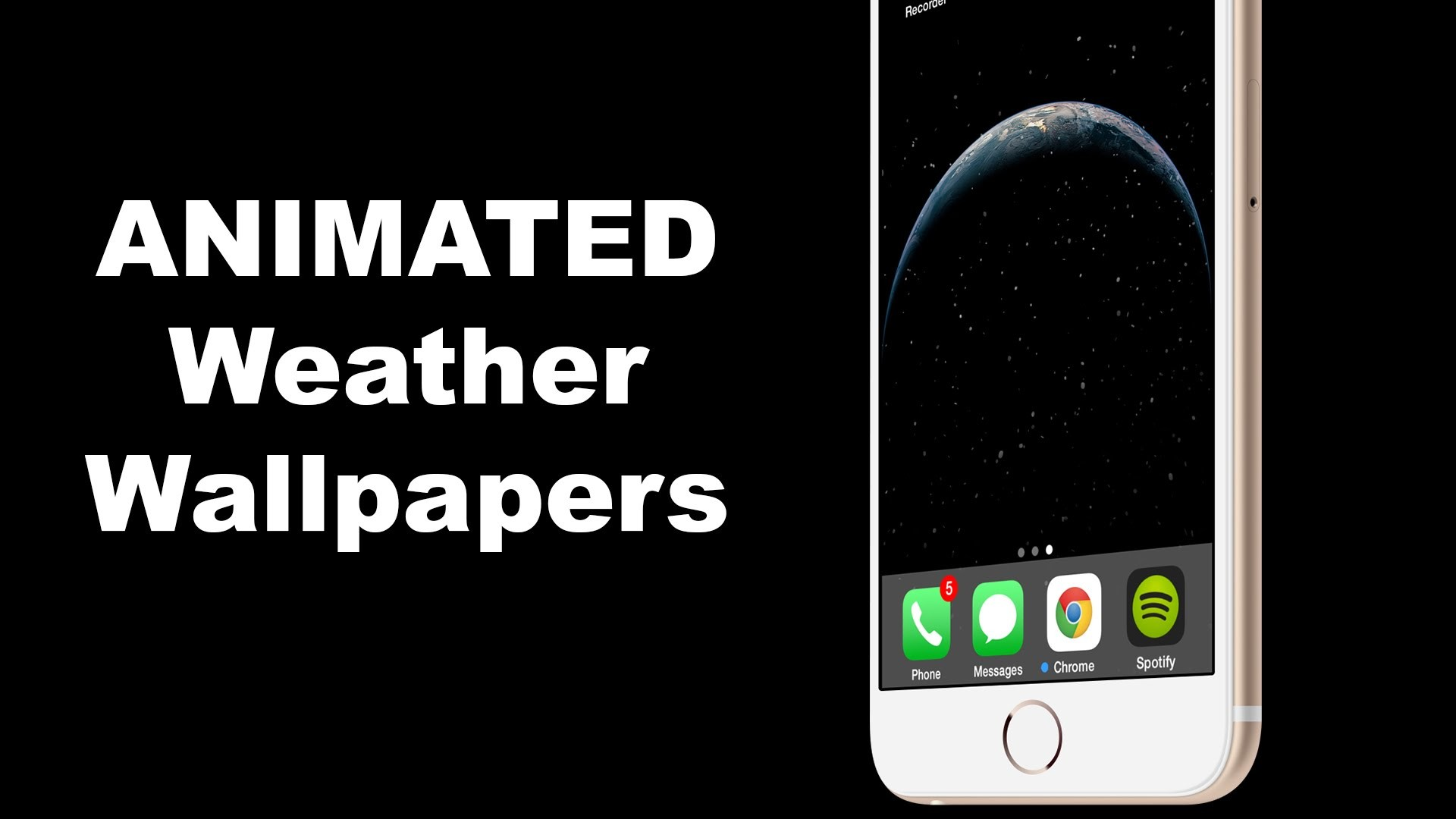 How To Add Changing ANIMATED Weather Wallpapers for iOS 8 and iOS 8.1 –  YouTube