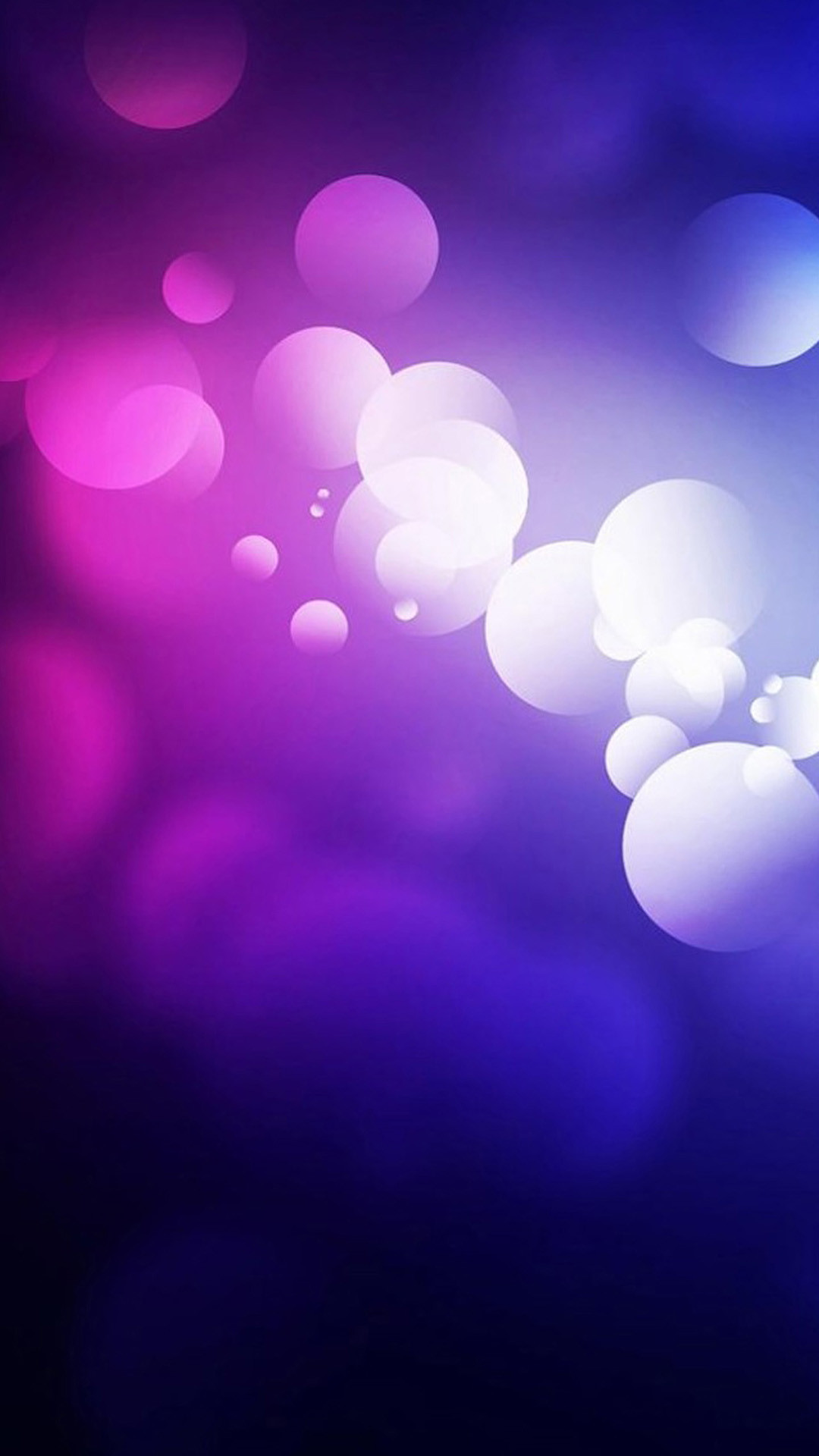 Purple Abstract Bubbles #iPhone #6 #plus #Wallpaper