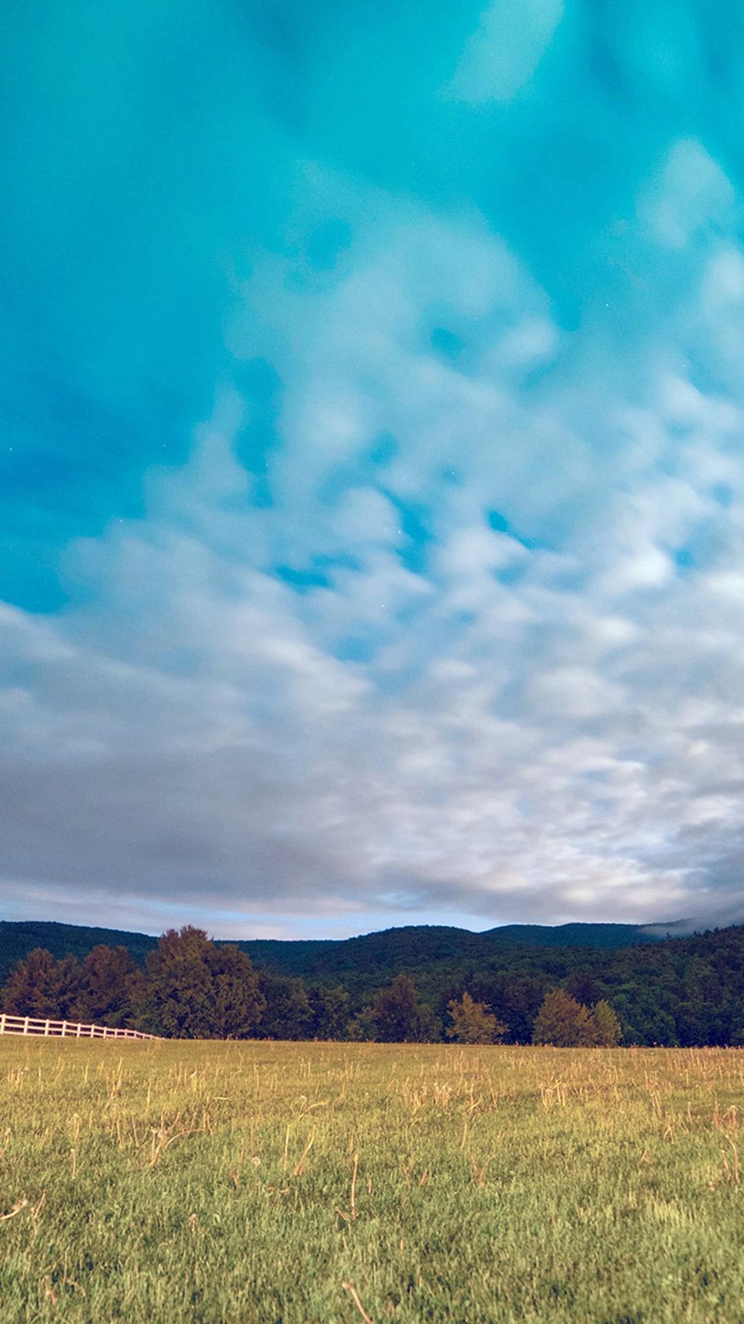 Mountain Cloud Sunset Field Nature #iPhone #6 #plus #wallpaper