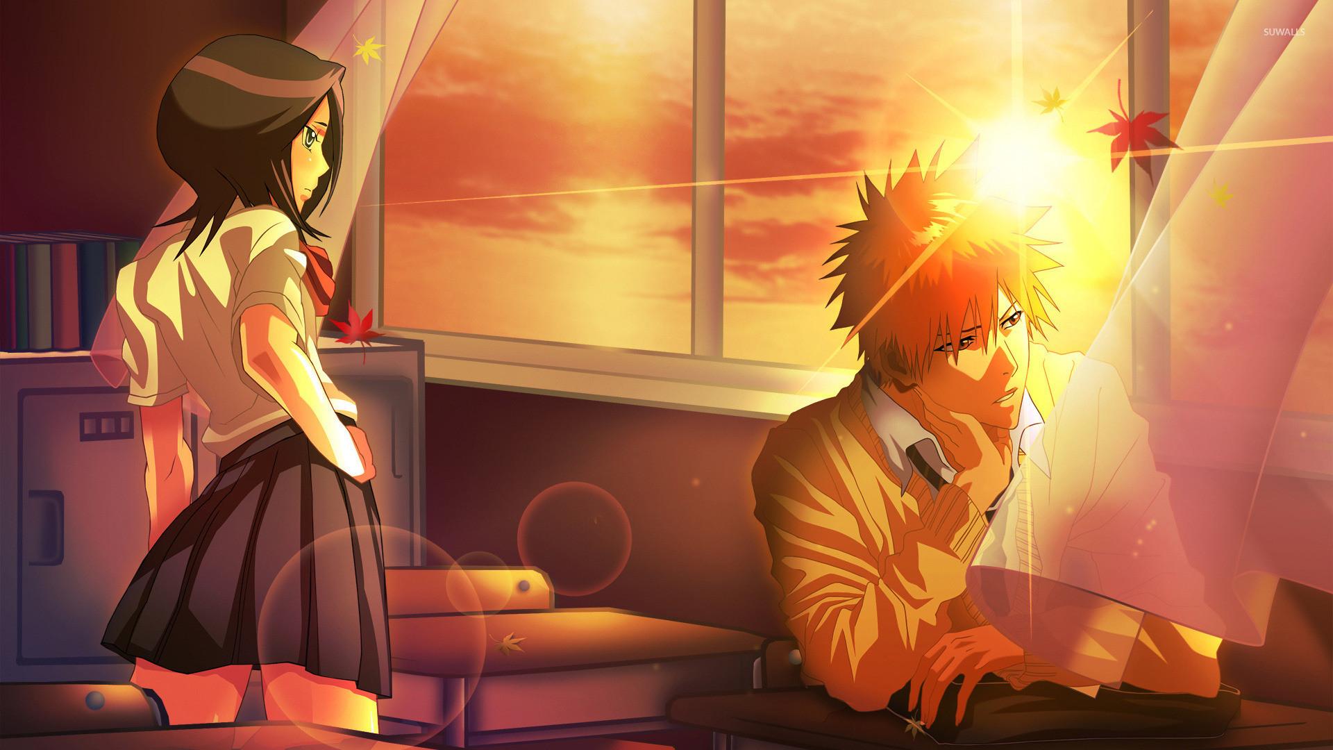 Rukia Kuchiki and Ichigo Kurosaki – Bleach wallpaper