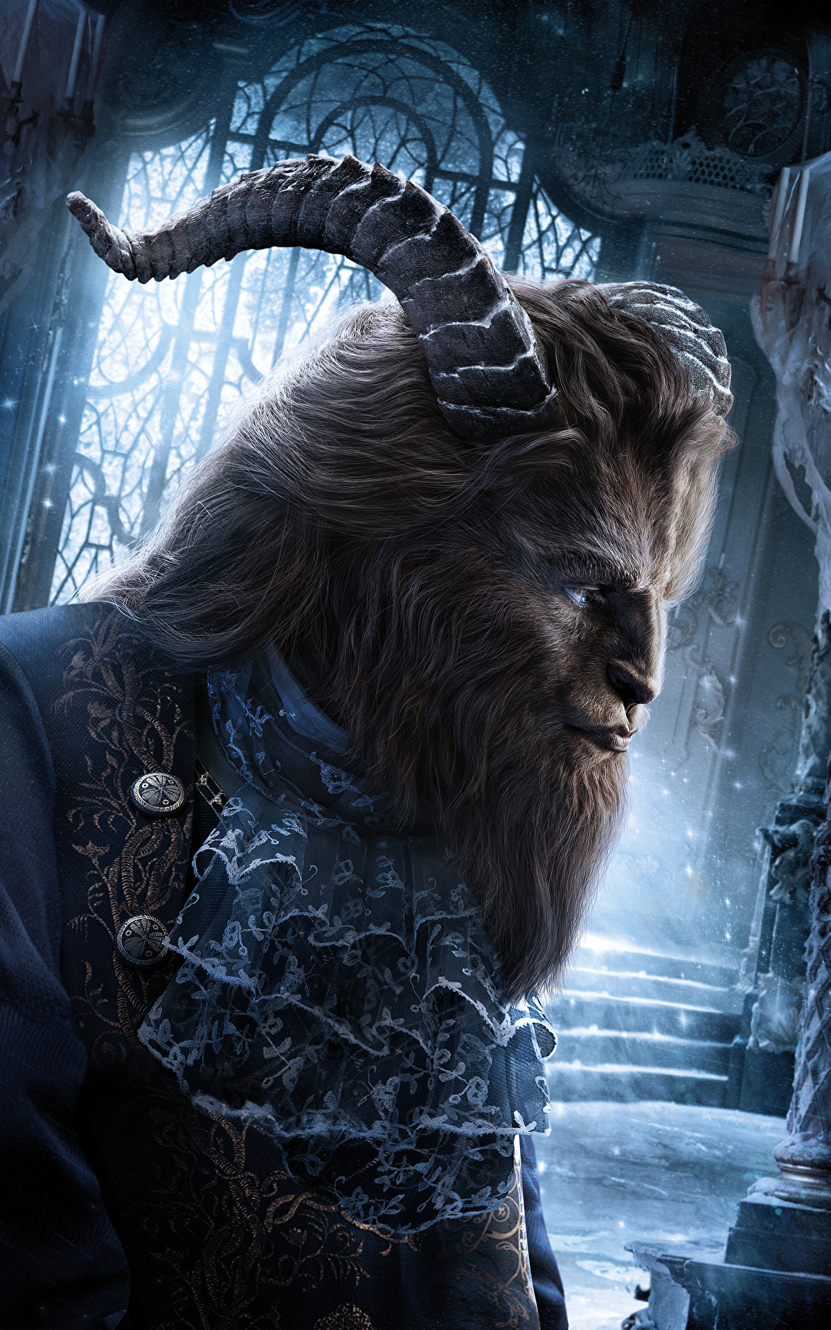 Wallpaper Beauty and the Beast 2017 Monsters Horns Movies 1200×1920