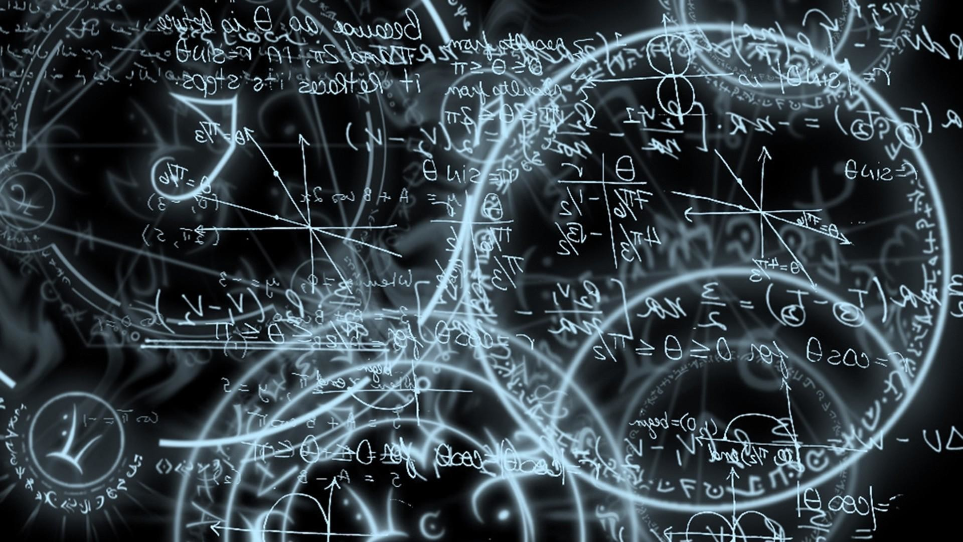Black and white circles mathematics.