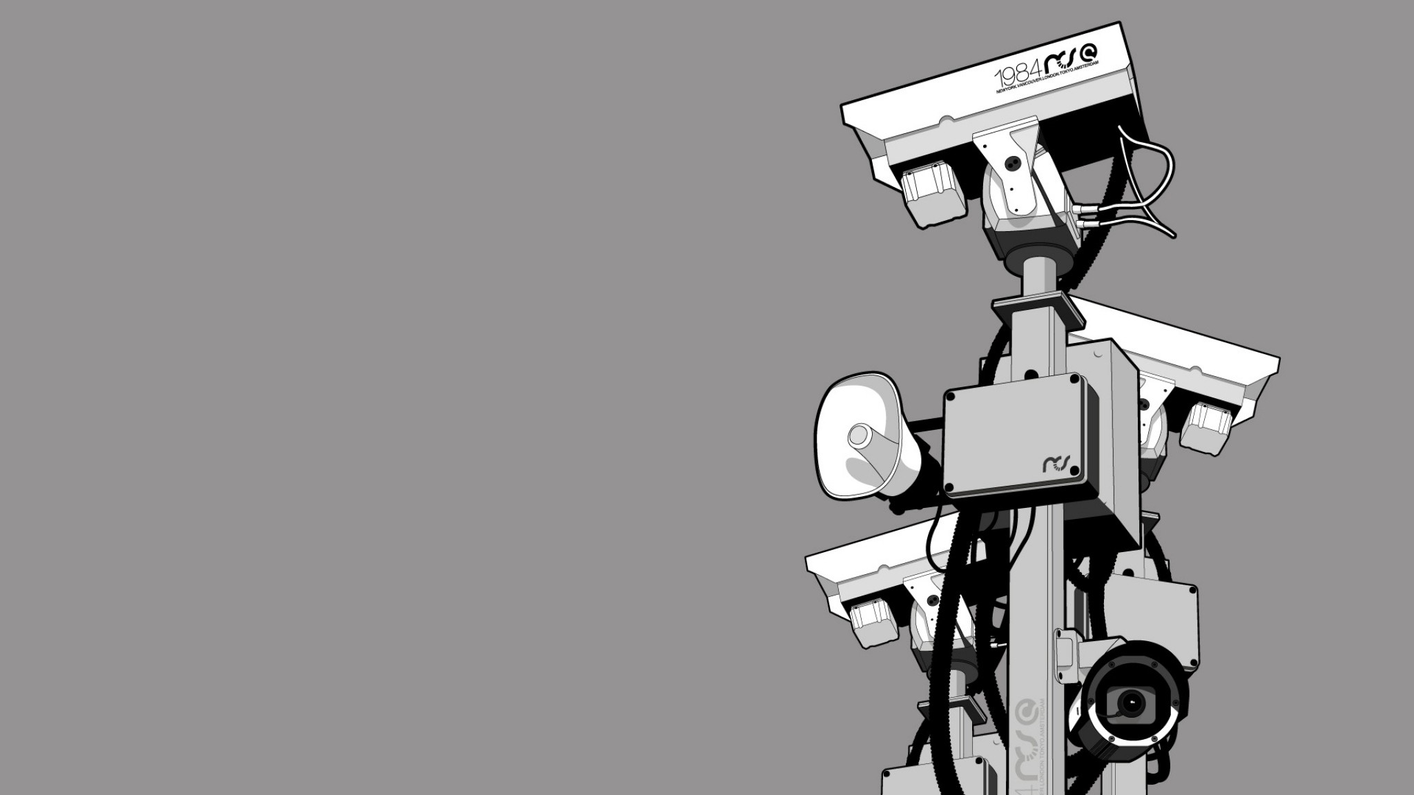 Wallpaper camera, device, figure, gray, white