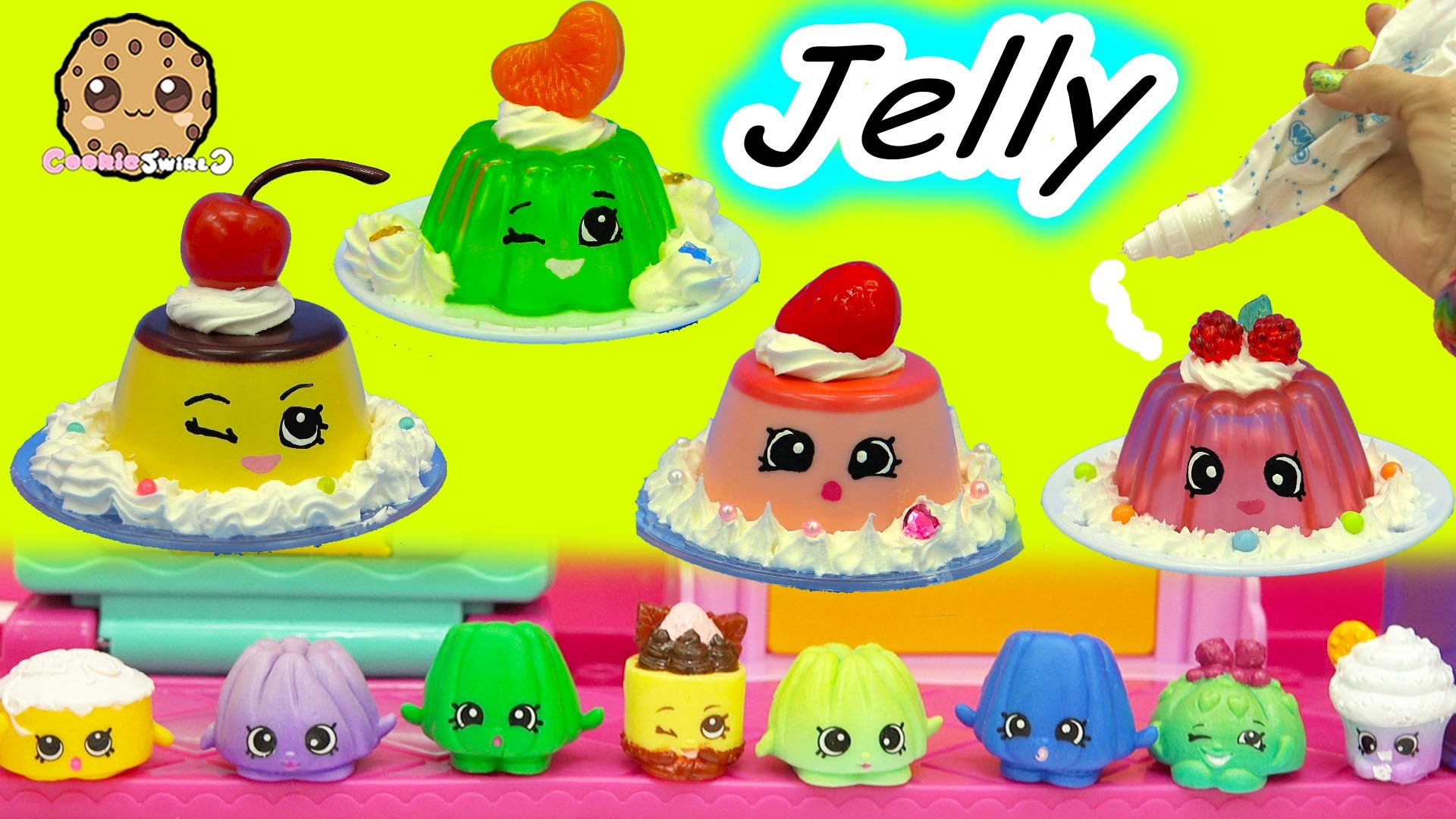 Whipple Cream Jelly Pudding Shopkins Season Inspired Easy Do It Yourself  Paint & Craft Video – YouTube