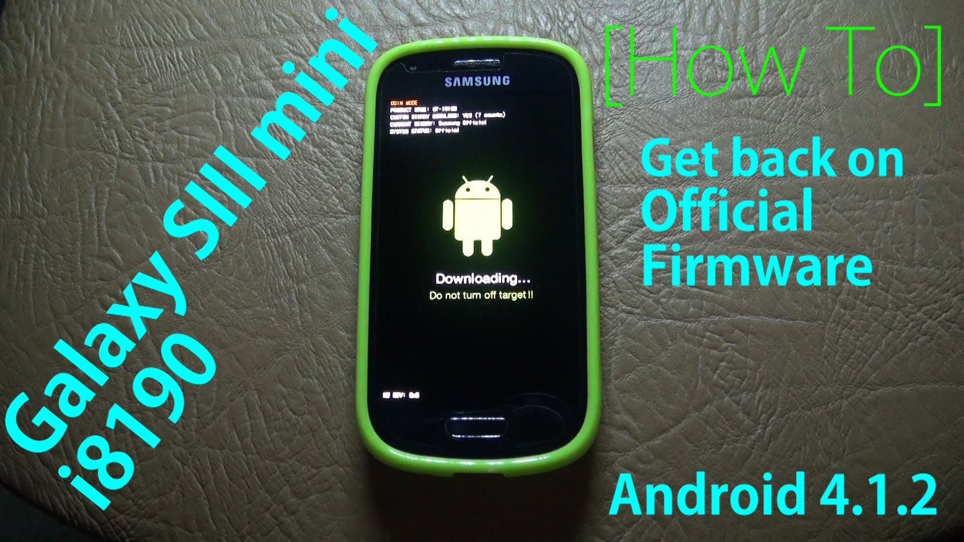 [Galaxy S3 mini i8190] Install Official Firmware! – YouTube