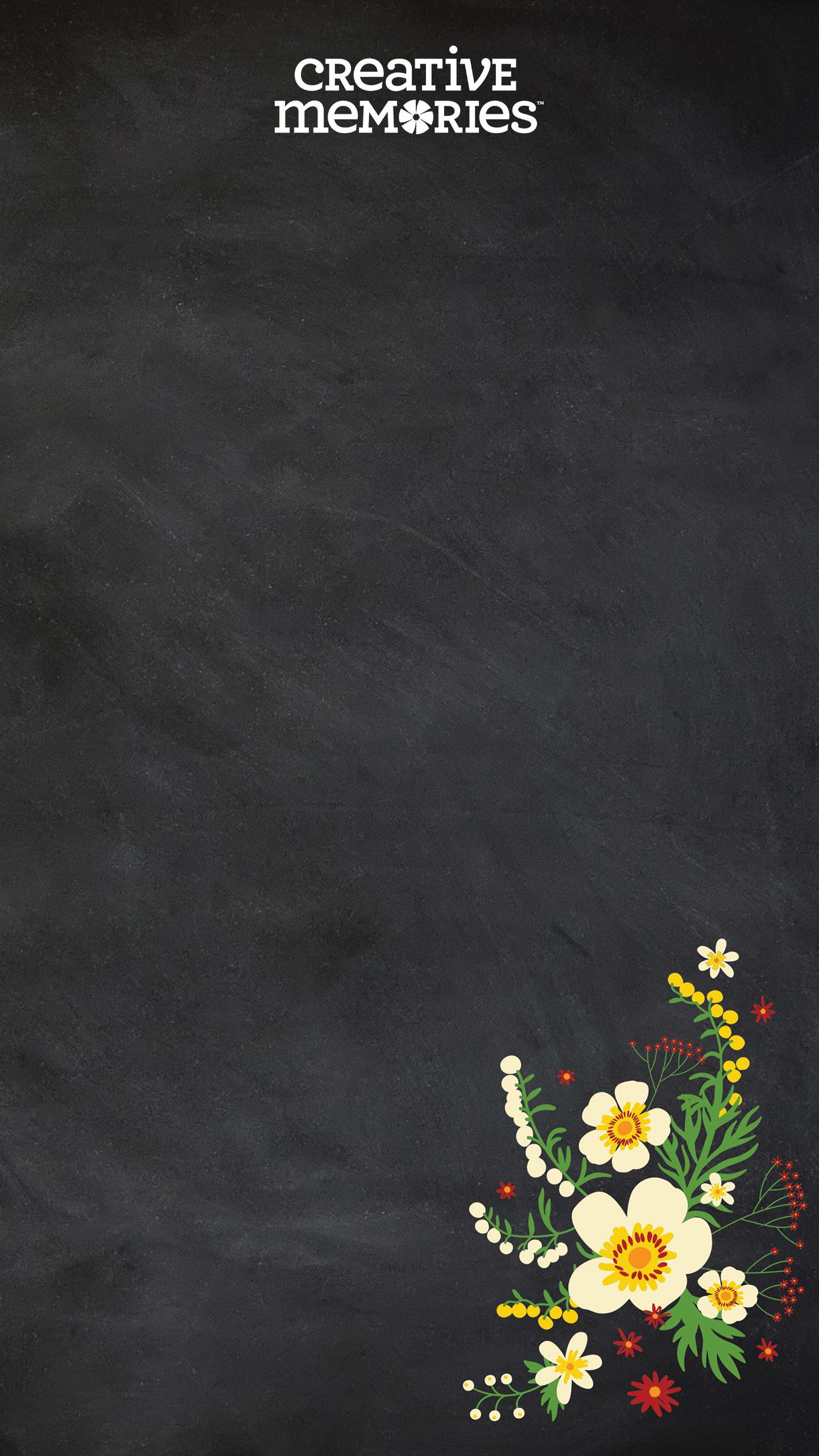 … Download Chalkboard Flowers Wallpaper …