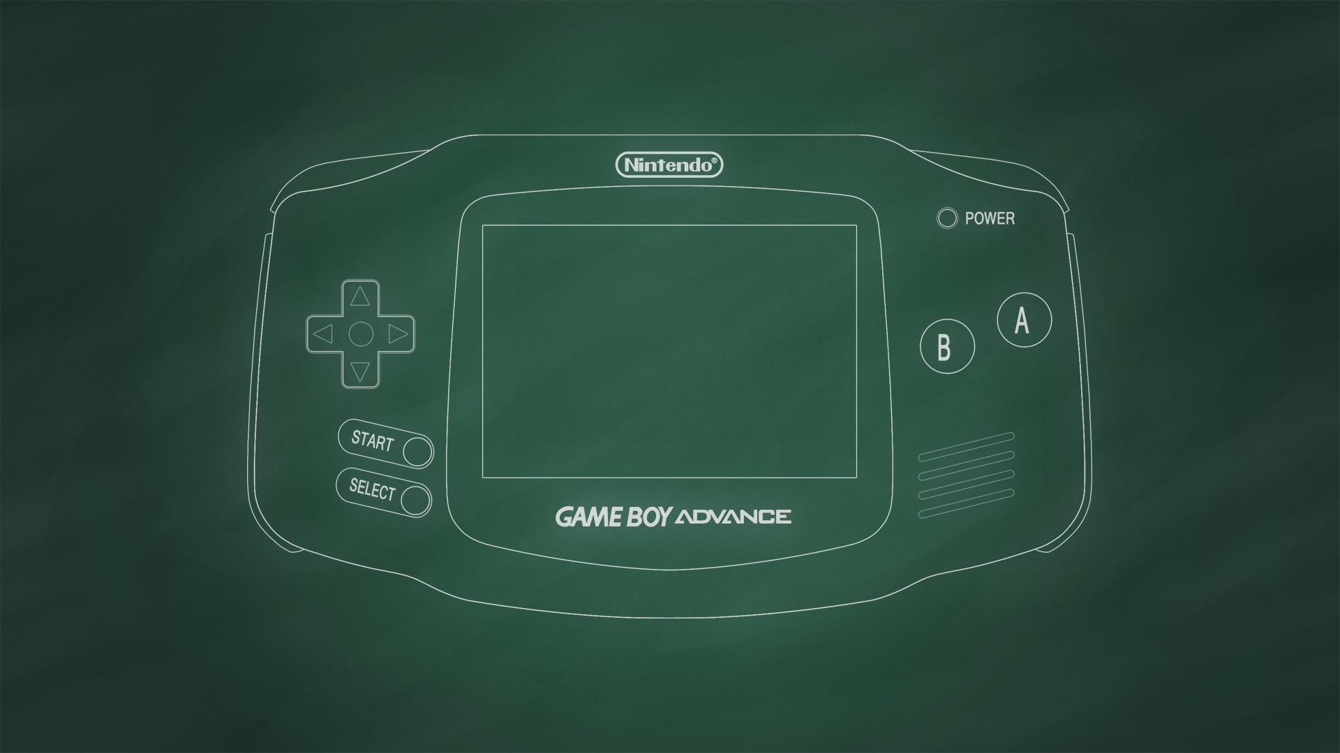 … Game Boy Advance [Chalkboard] by BLUEamnesiac