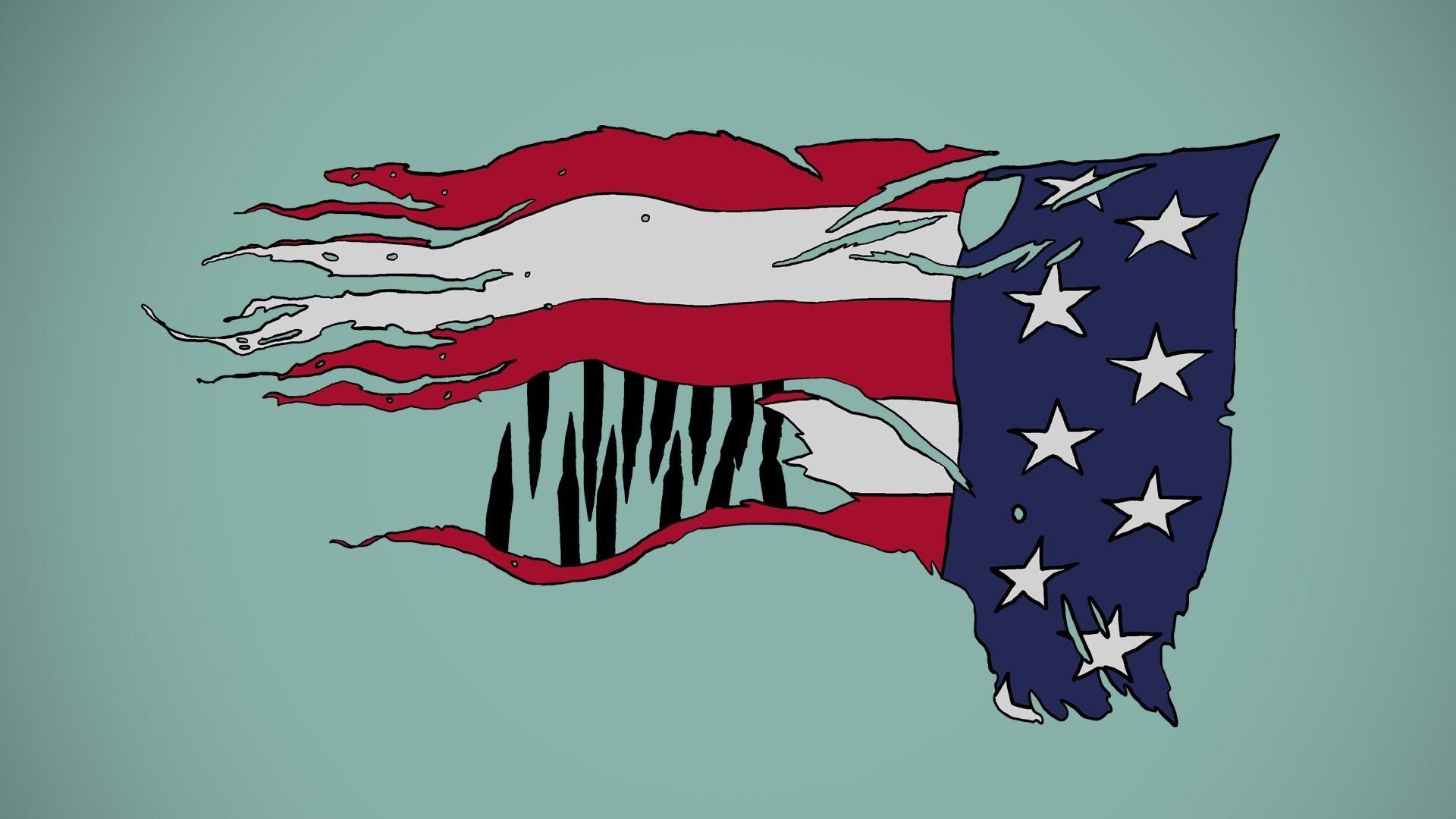 American flag new york city usa flags wallpaper