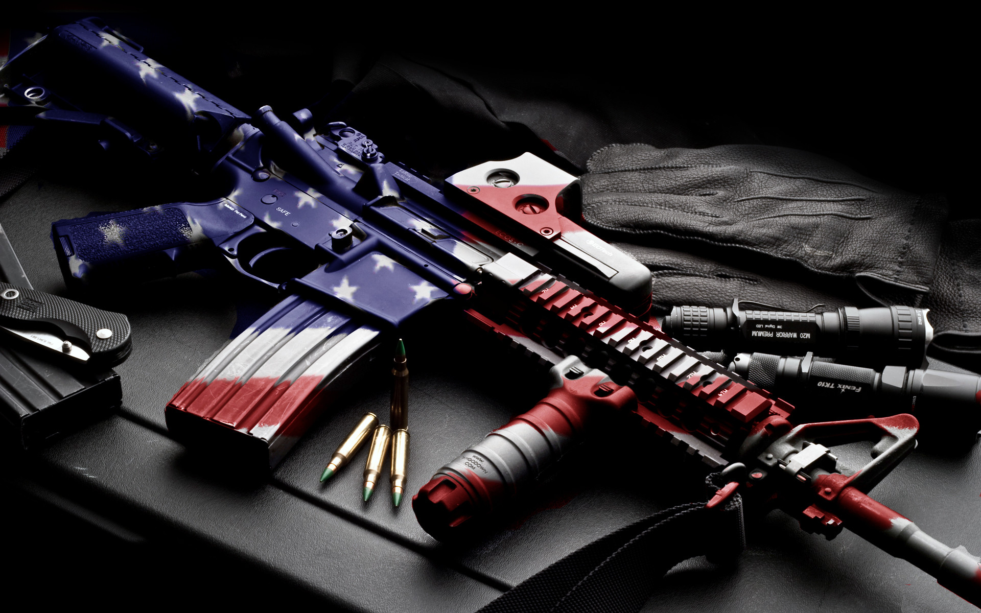 usa america guns mech machine bullet ammo ammuntion flag wallpaper .