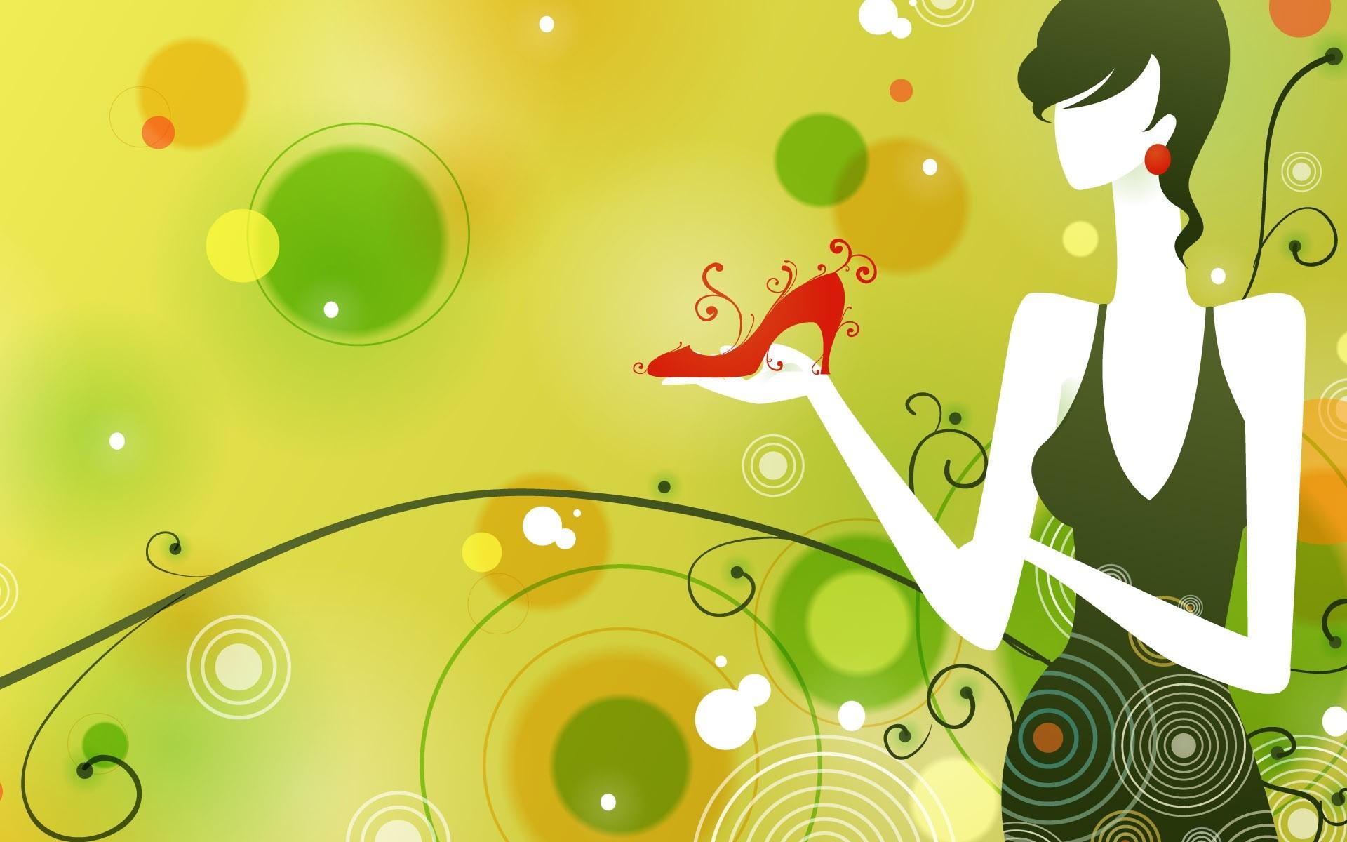 Green Fashion Girl Ppt Theme · Green fashion girl ppt theme free powerpoint  background