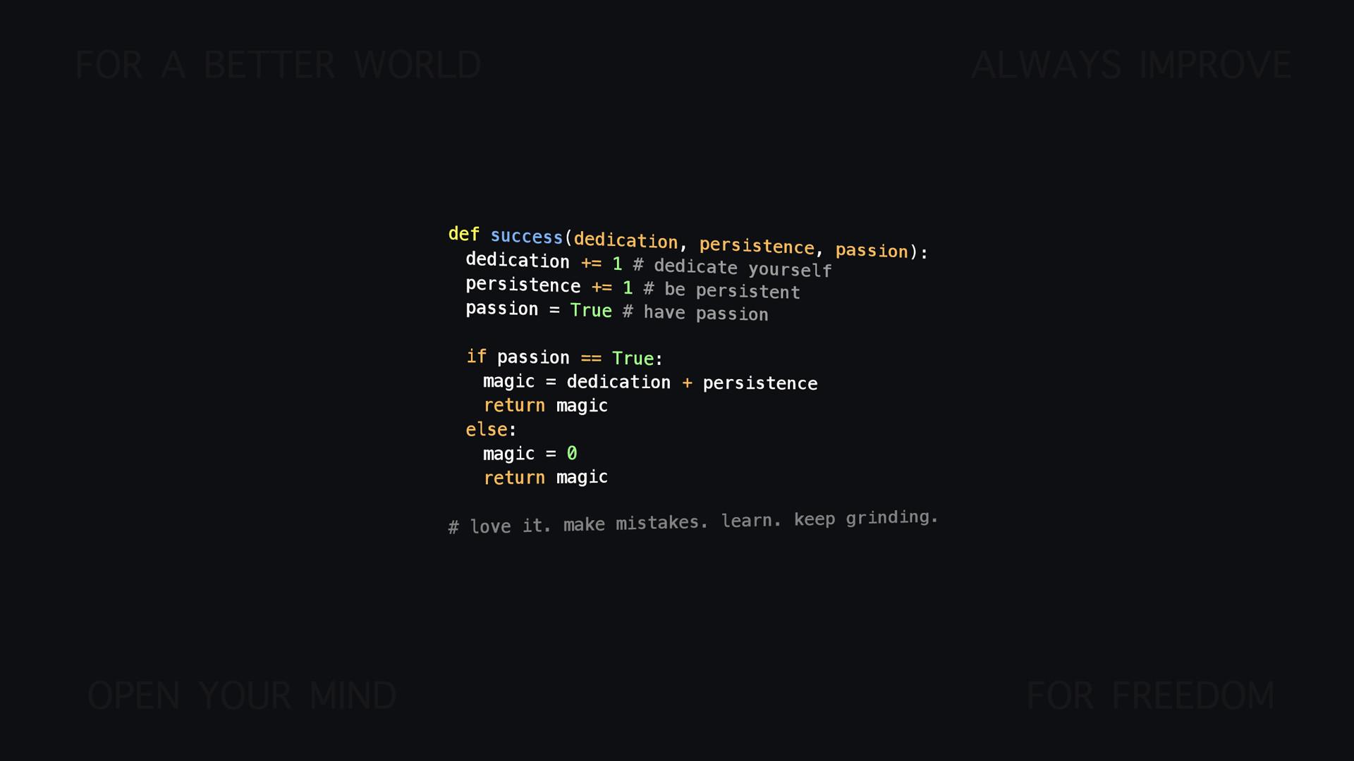 motivational Python/programming wallpaper [1920×1080]. Let me know .