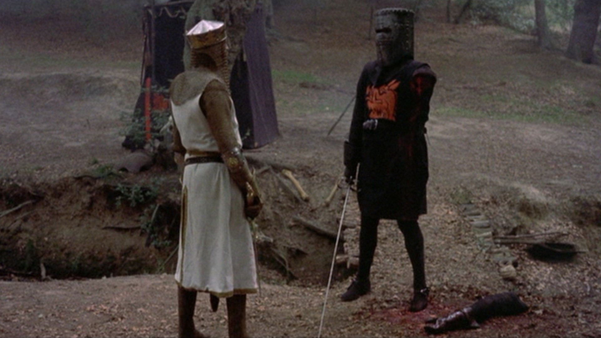 """MONTY PYTHON AND THE HOLY GRAIL — """"tis but a scratch"""" hahahaha"""